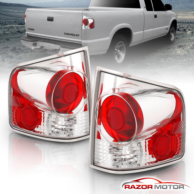 For 1994-2004 Chevy S10/GMC Sonoma Chrome Rear Brake Tail Lights ...