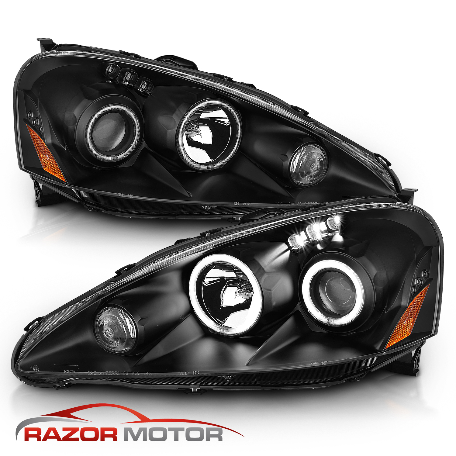 [Dual CCFL Halo] 2005 2006 Acura RSX LED DRL Projector