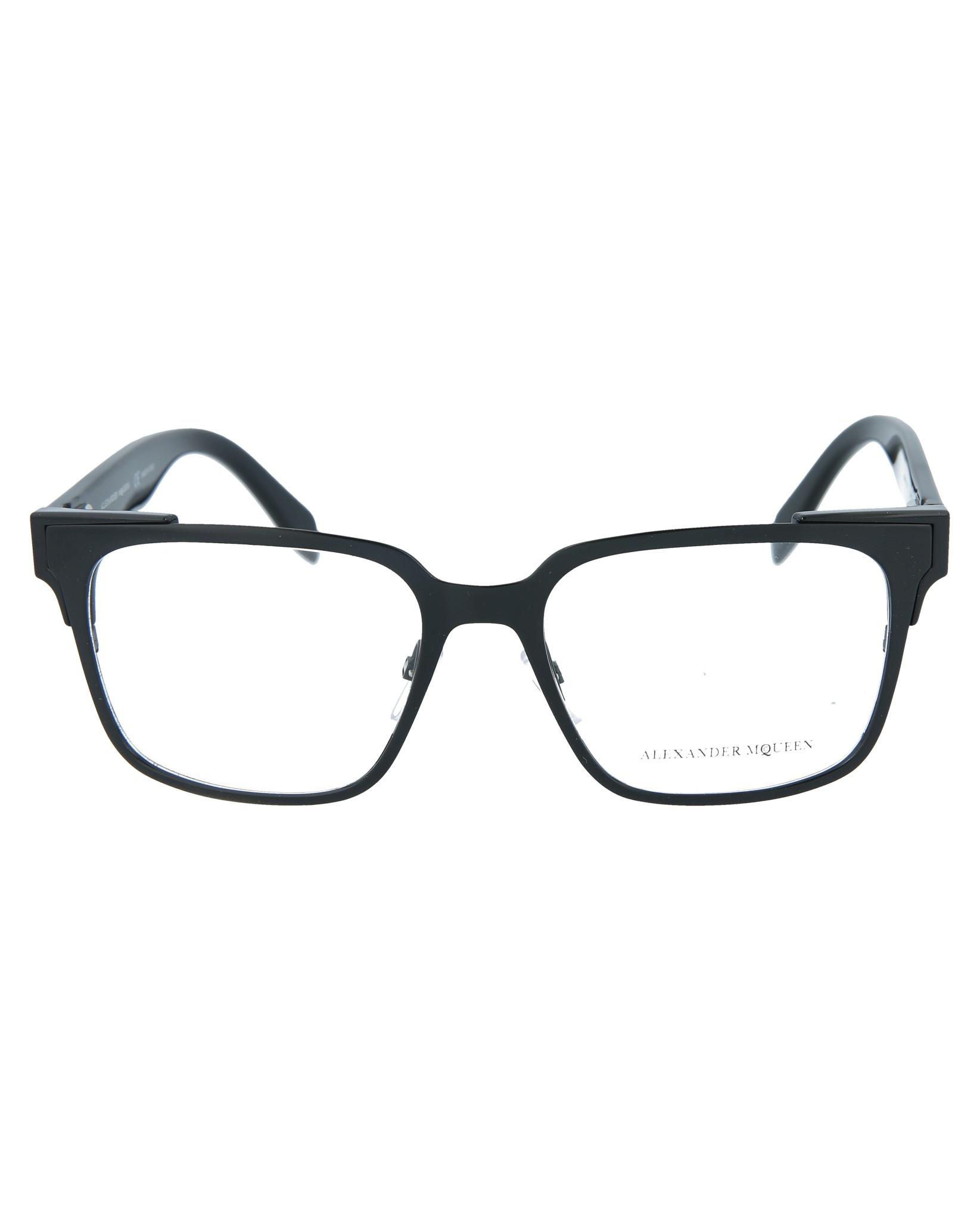 deb53290b7 Alexander McQueen Mens Square Rectangle Optical Frames AM0014O-30000138-001