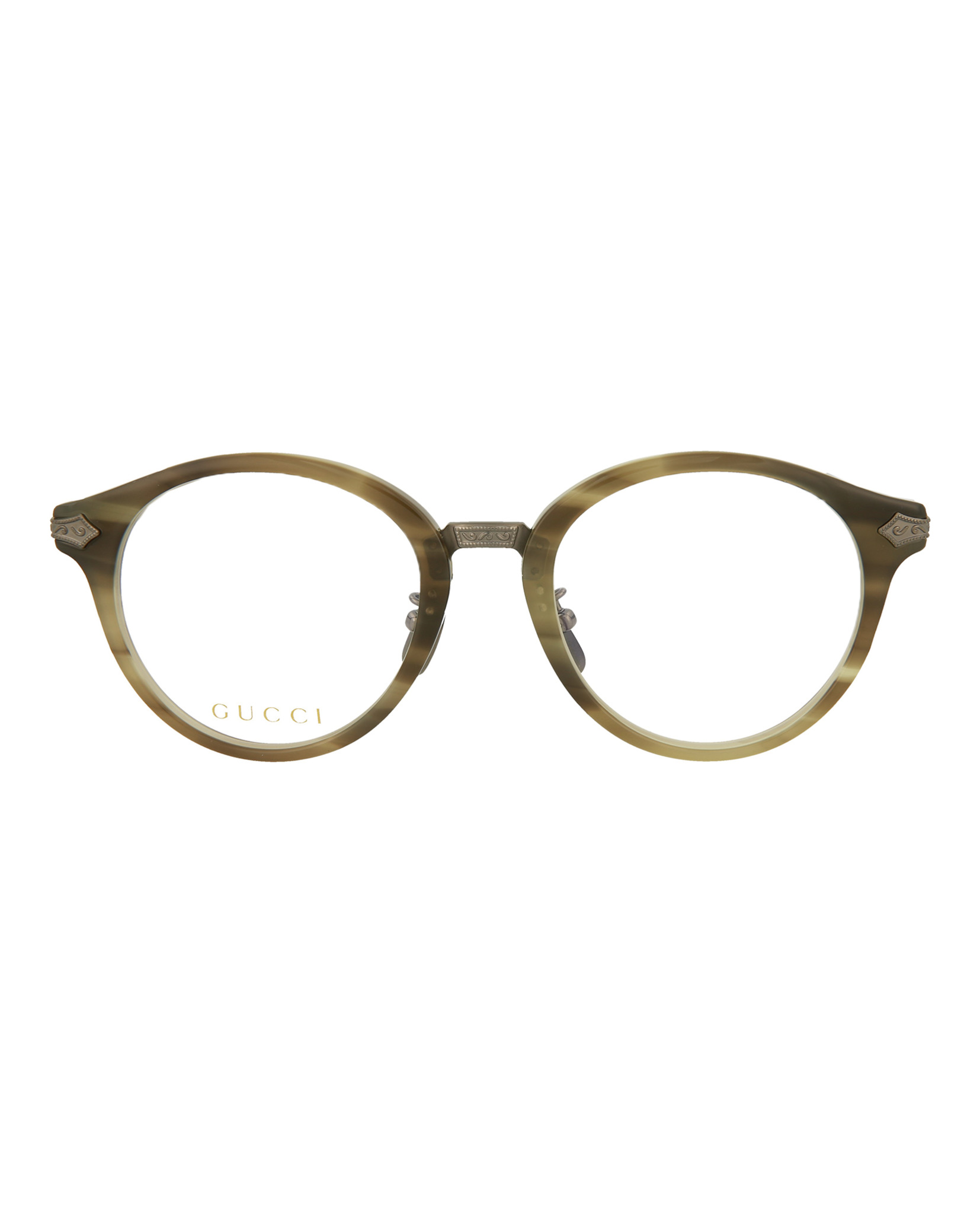 516efab6be Gucci Mens Round Oval Optical Frames GG0066O-30001061-003 ...