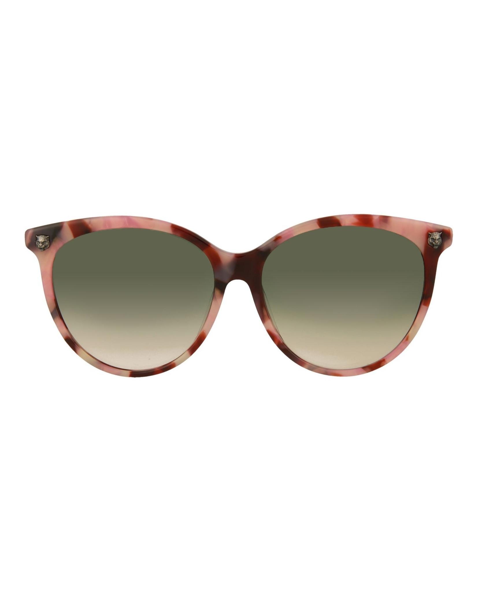 7bb86668b1 Gucci Womens Round Oval Sunglasses GG0223SK-30001799-004 ...