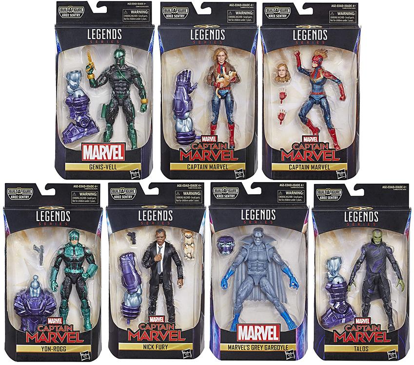 "Marvel Legends 6/"" inch Build a Figure Captain Marvel Kree Sentry Parts"