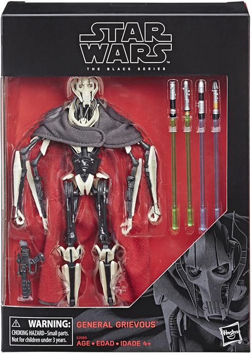 Star Wars Black General Grievous 6 Inch D1 Mint In Box