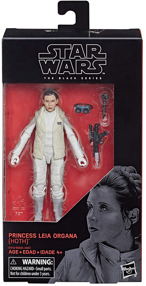 """Star Wars Authentic Black Series 6/"""" Inch #75 Hoth Princess Leia Loose Complete"""