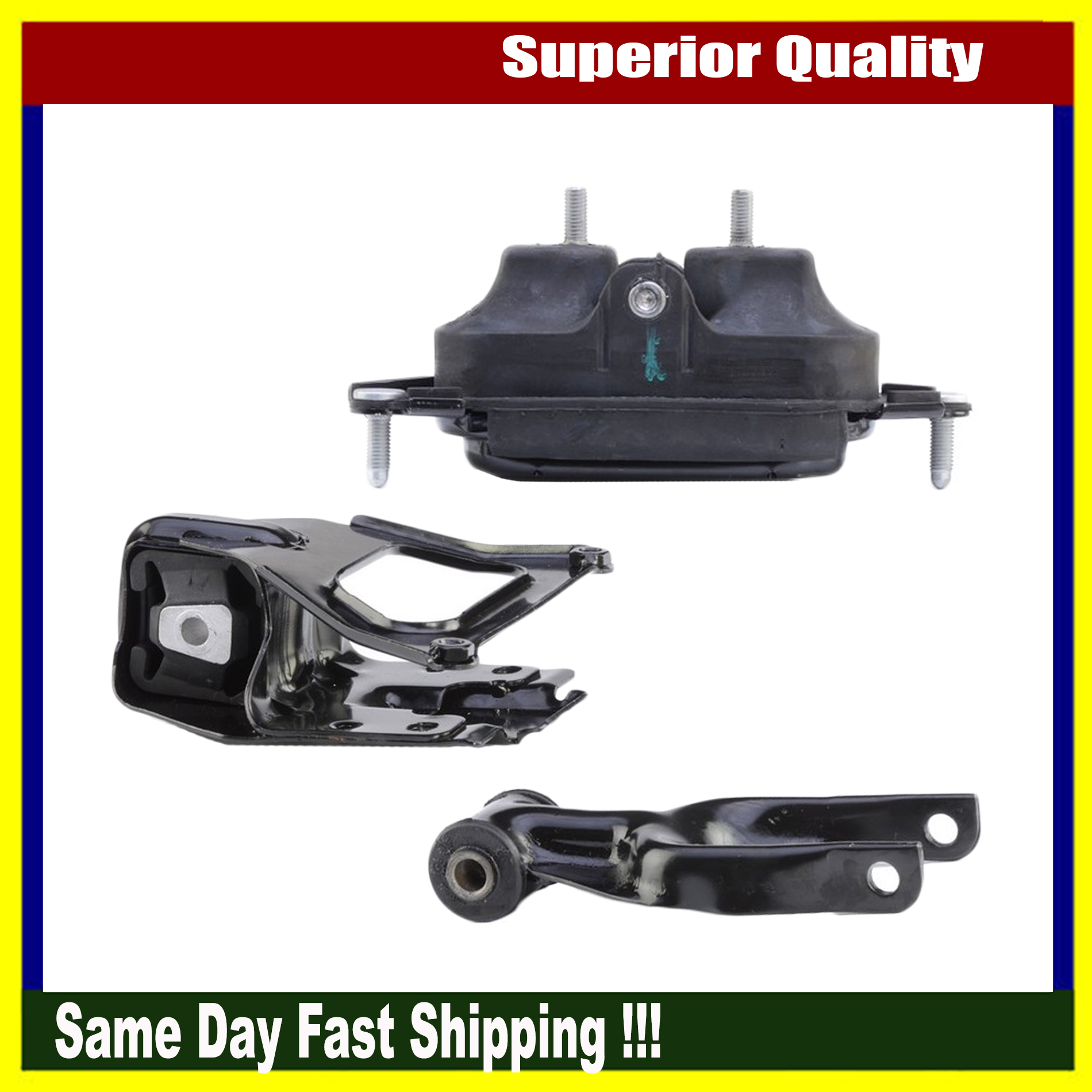 Anchor New Engine Motor Mount Set Of 3pcs For Buick Allure