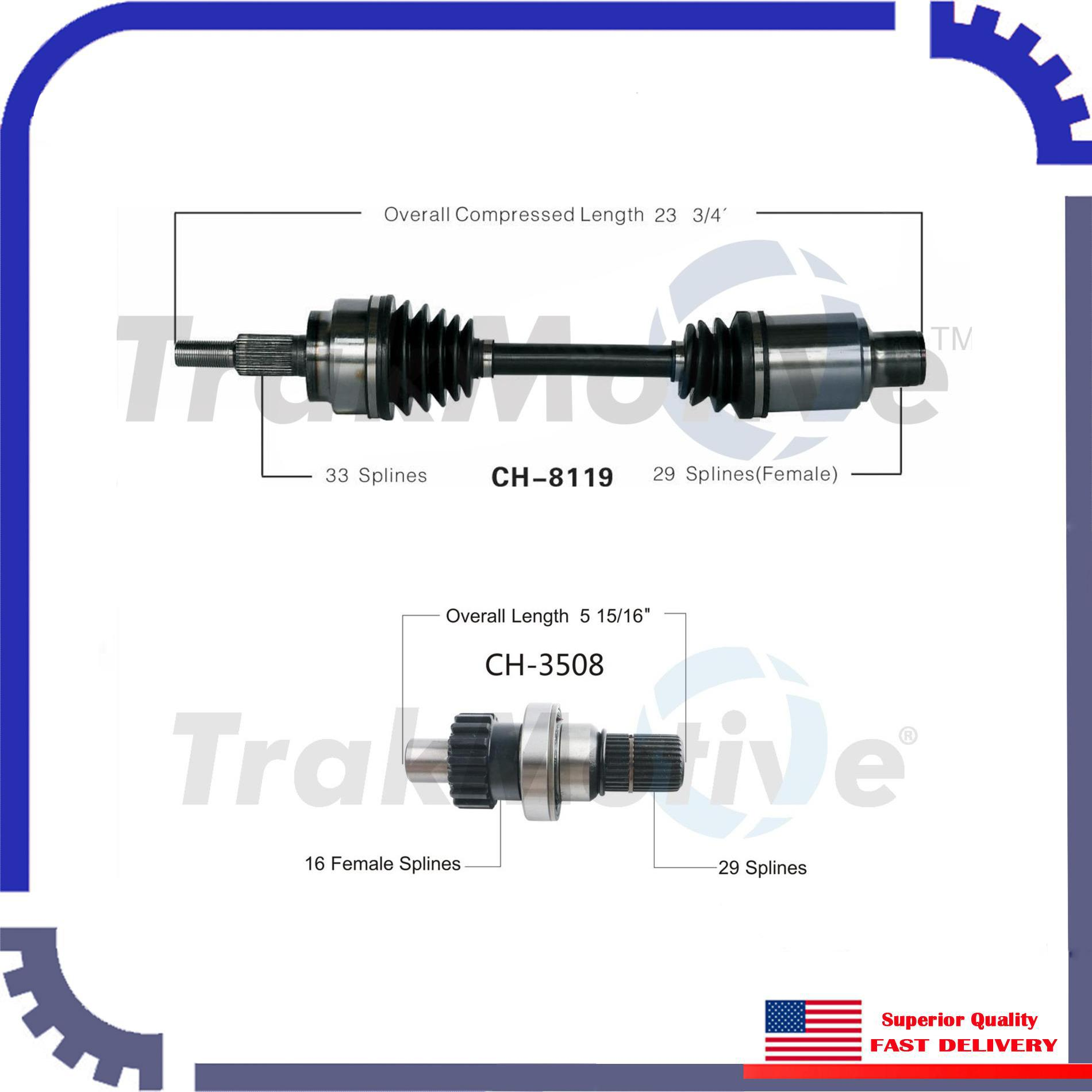 FRONT RIGHT CV Axle Assembly For DODGE RAM 1500 06-10