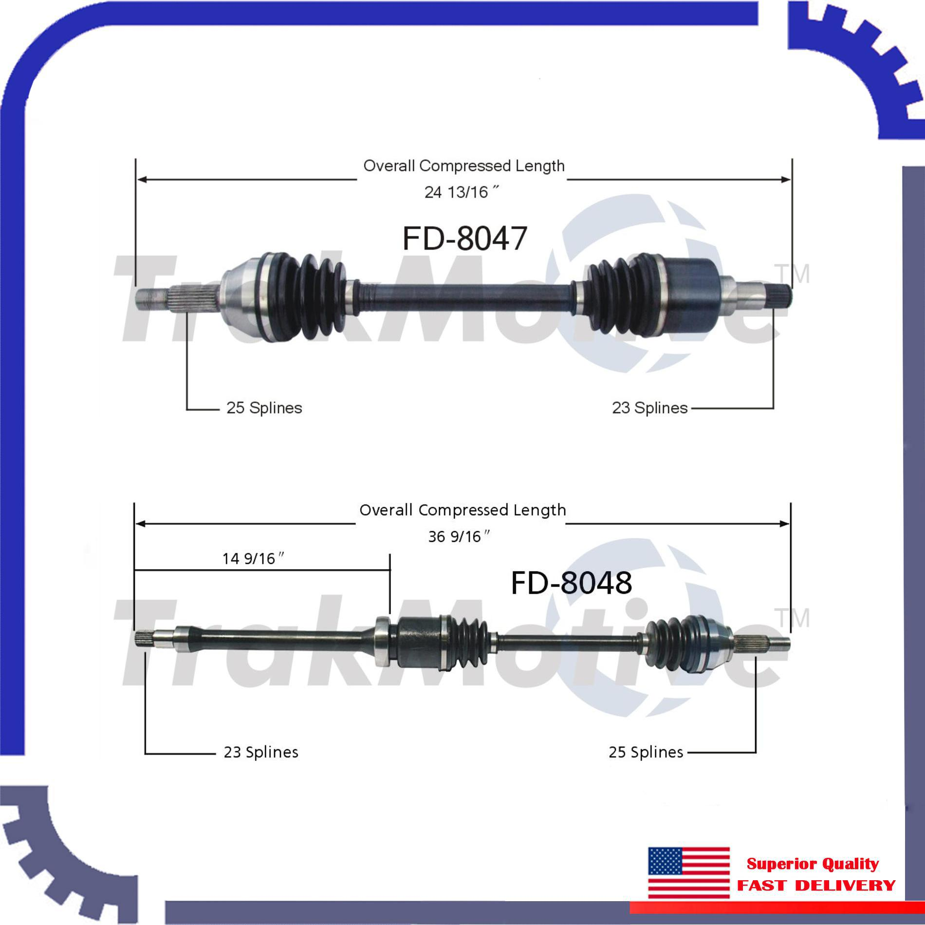 CV Axle Shaft A Pair Front Left & Right New For 2002-2004