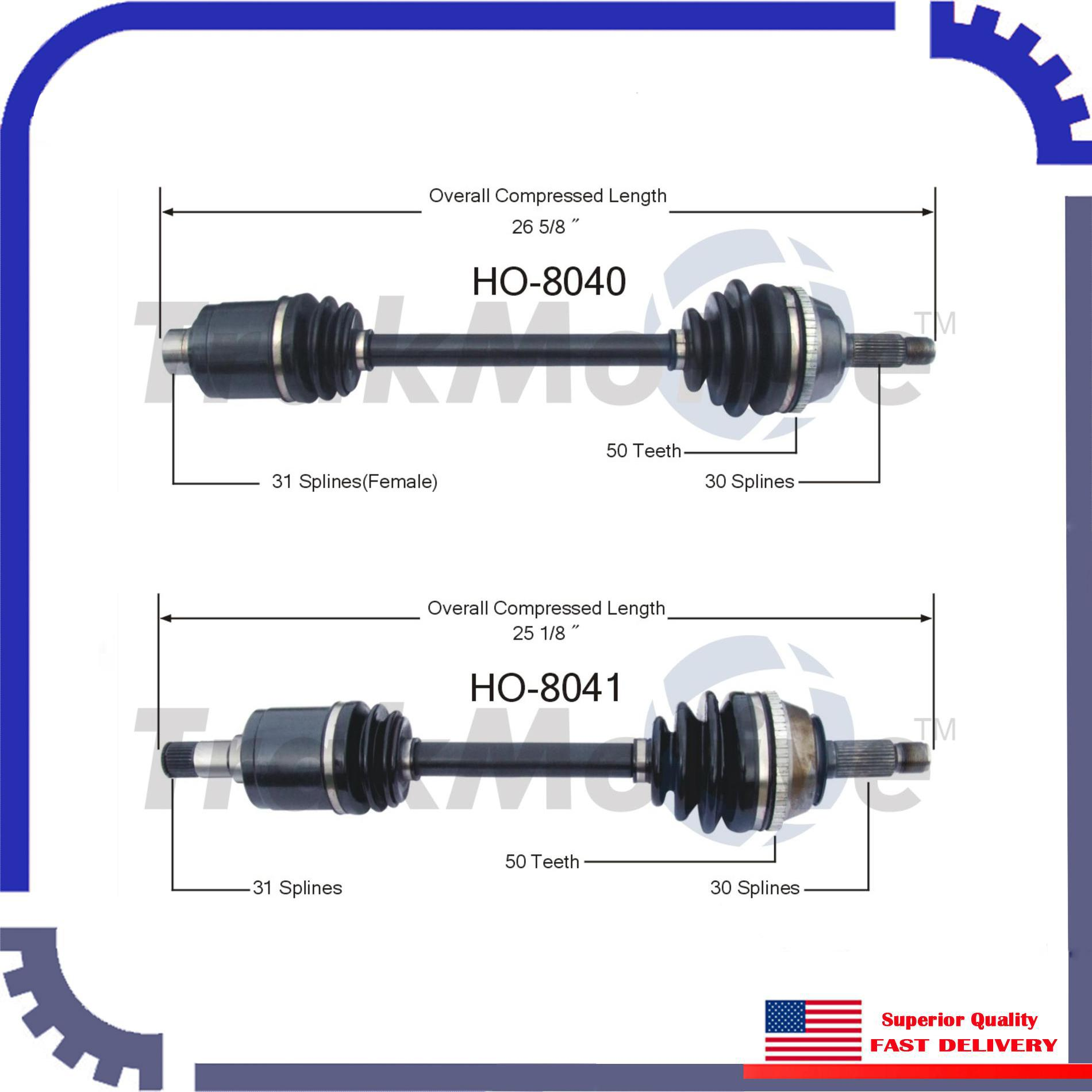 New CV Axle Shaft A Pair Front Left & Right For 1991-1995