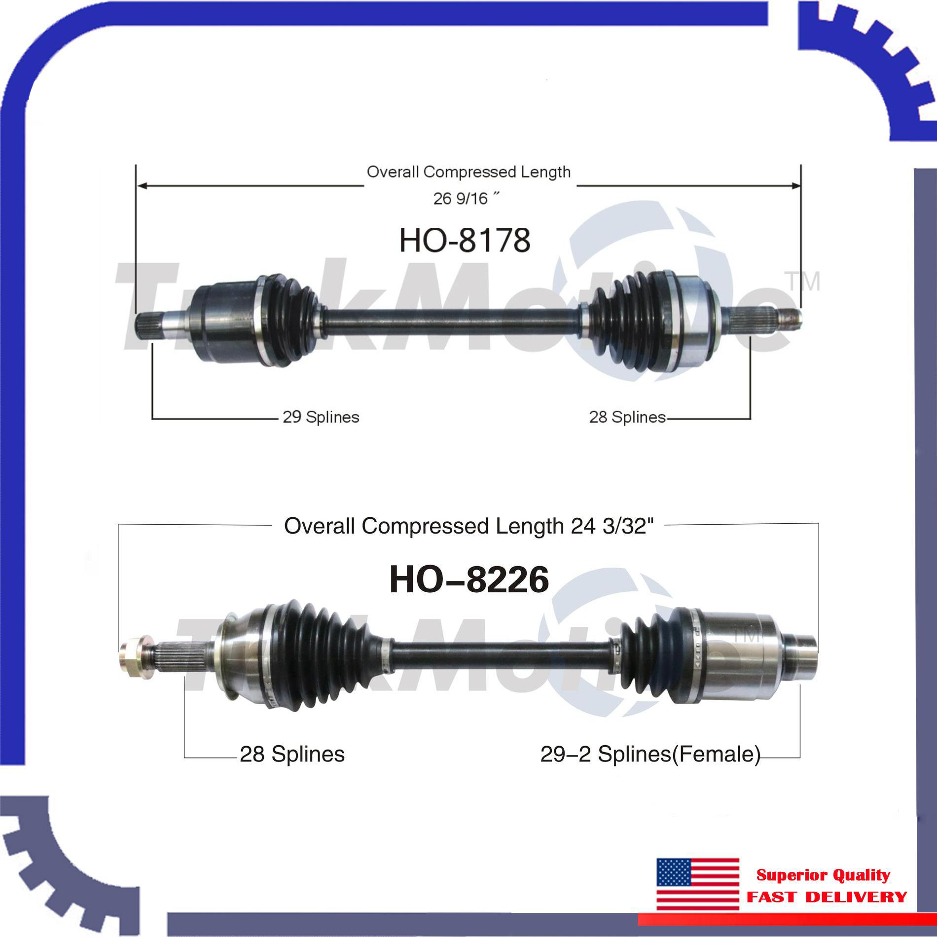 New CV Axle Shaft A Pair Front Left & Right For 2004-2008