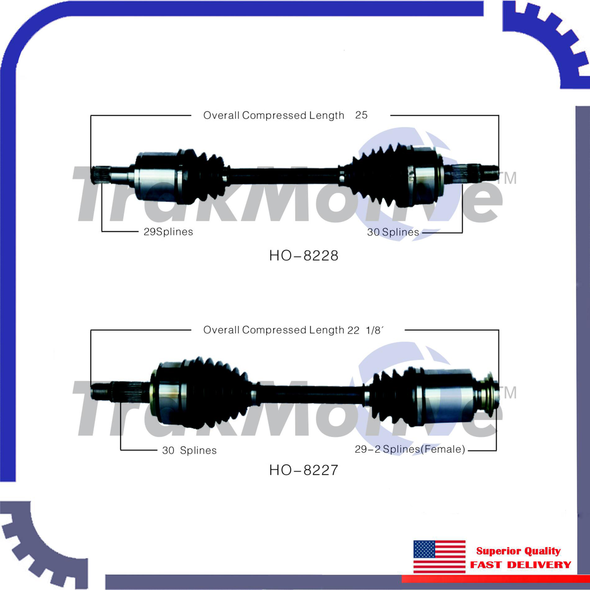 New CV Axle Shaft A Pair Front Left & Right For 2007-2012