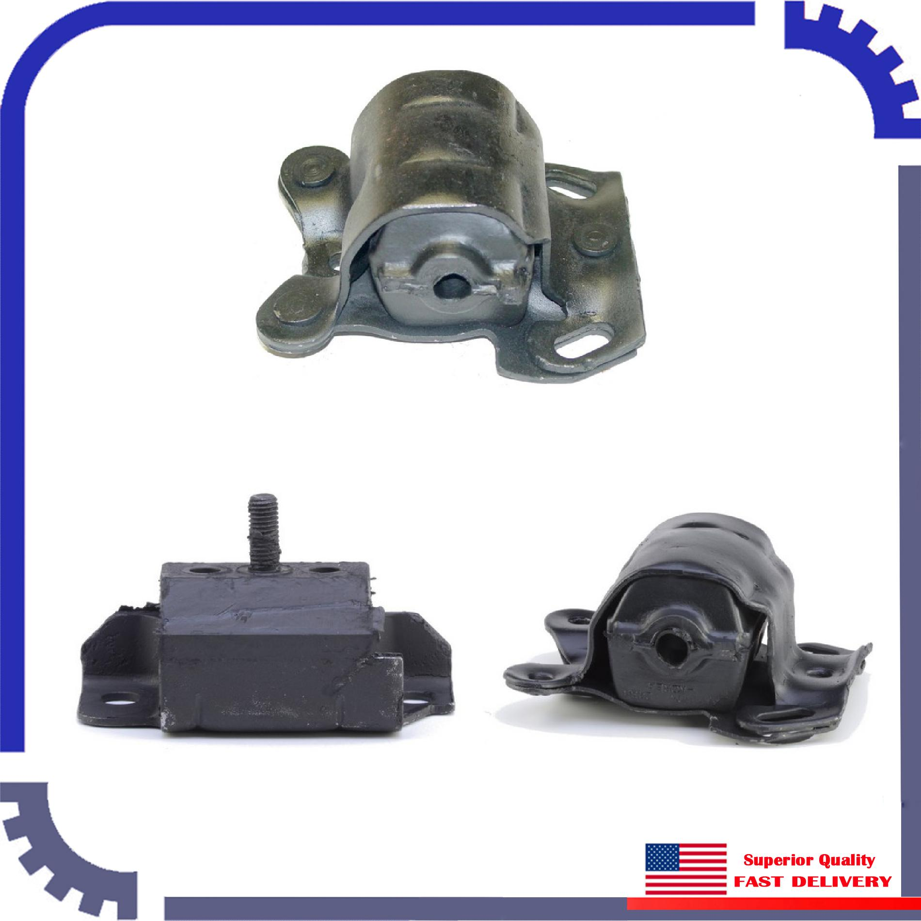 3pcs Brand New Anchor Engine Mount Set For 1985
