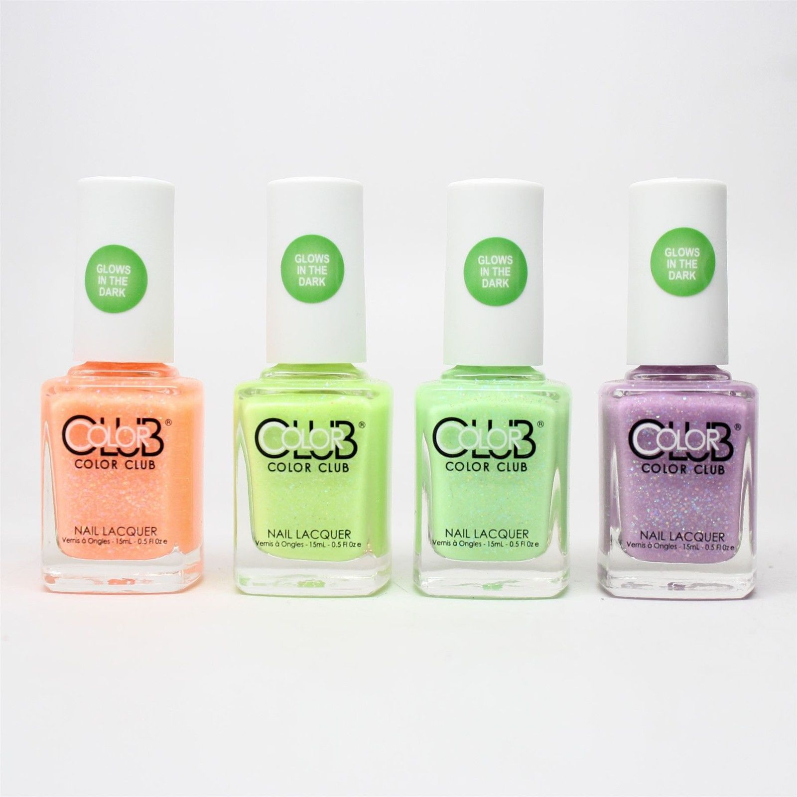 Color Club glow in the dark Nail Polish 2015 Neon Set of 4 colors | eBay
