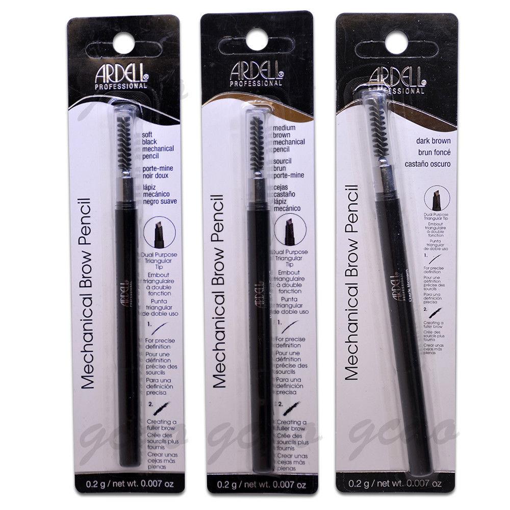 Ardell Mechanical Brow Pencil Medium Brown Dark Brown Soft Black