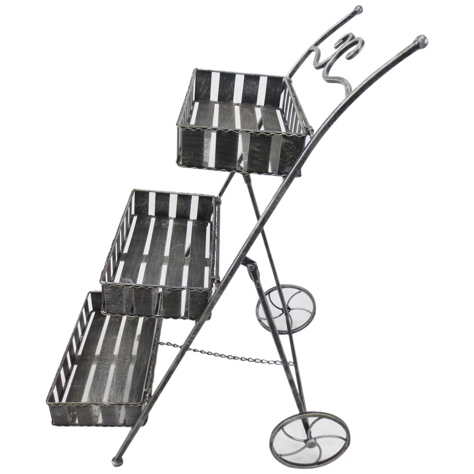 Outsunny 3 Tier Metal Garden Plant Stand Flower Pot Rack