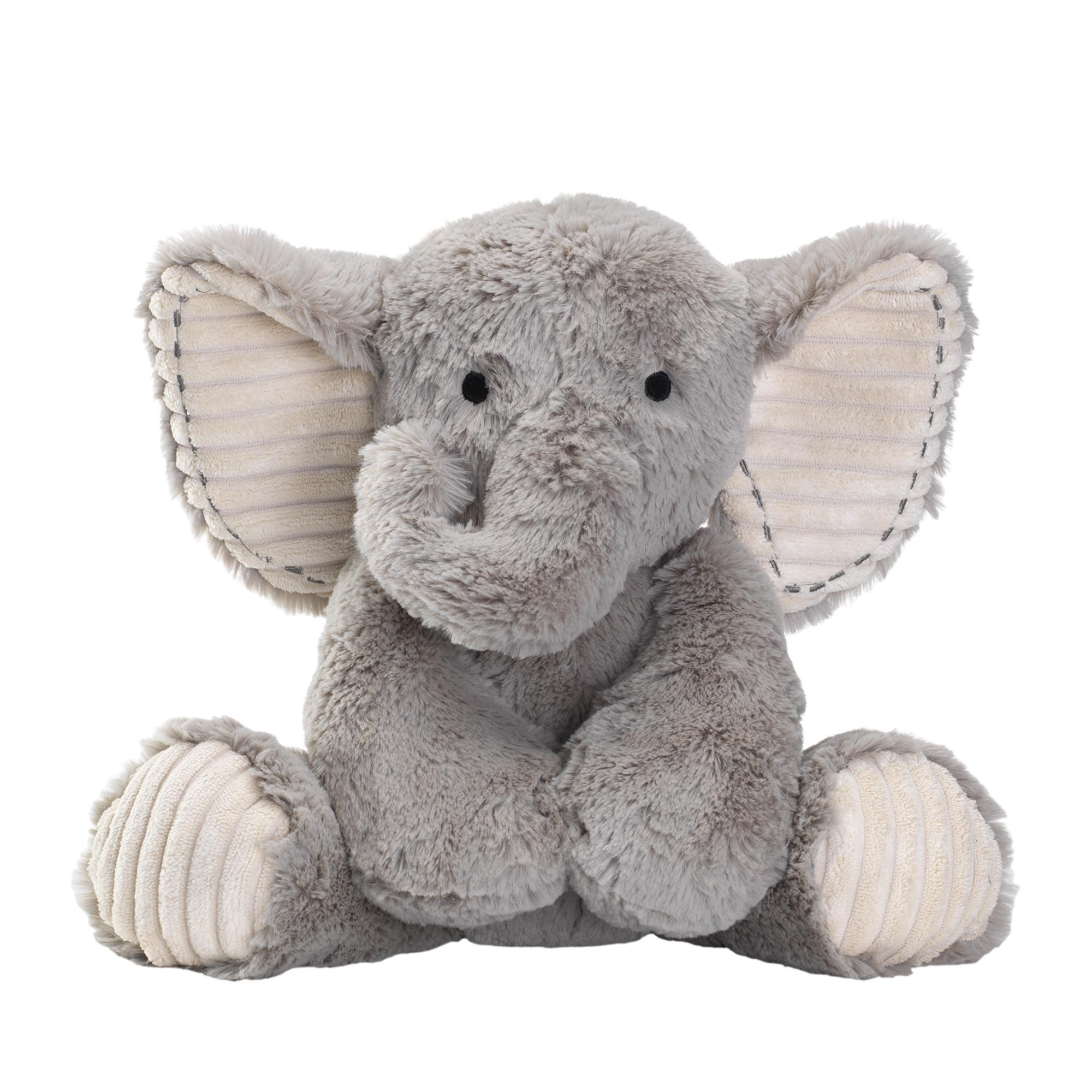 Lambs Ivy Jungle Safari Gray Plush Elephant Stuffed Animal Toy