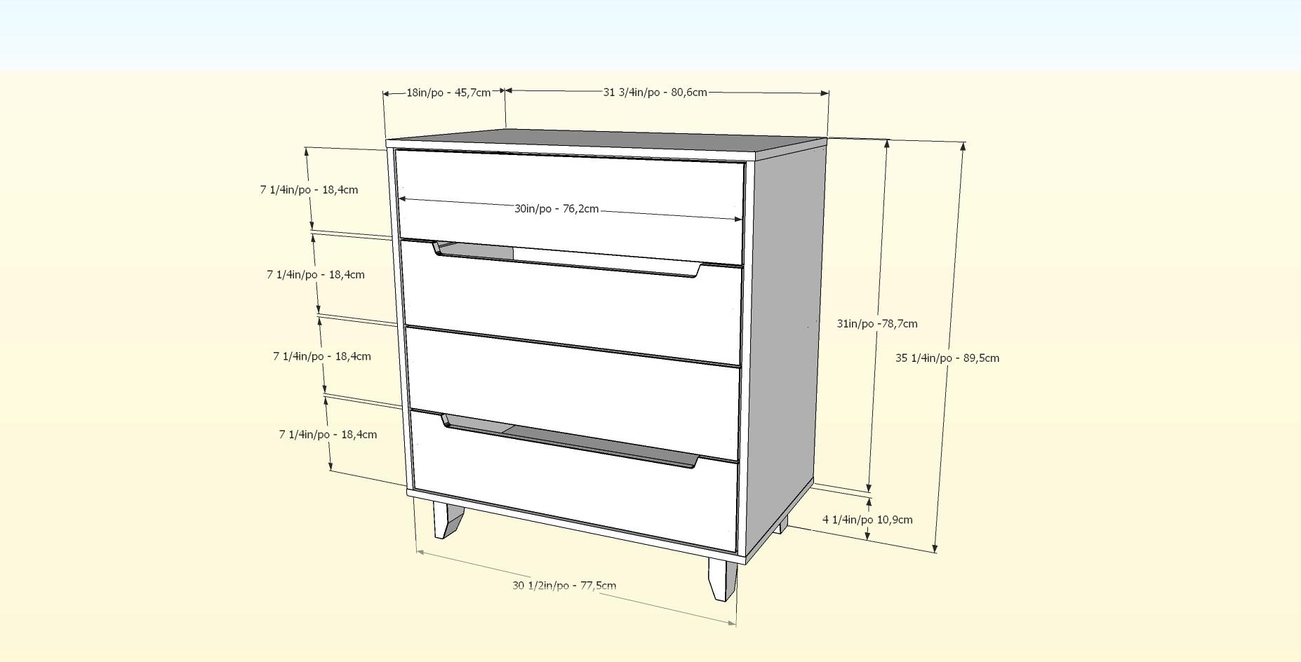 Nexera-4-Drawer-Chest miniature 5