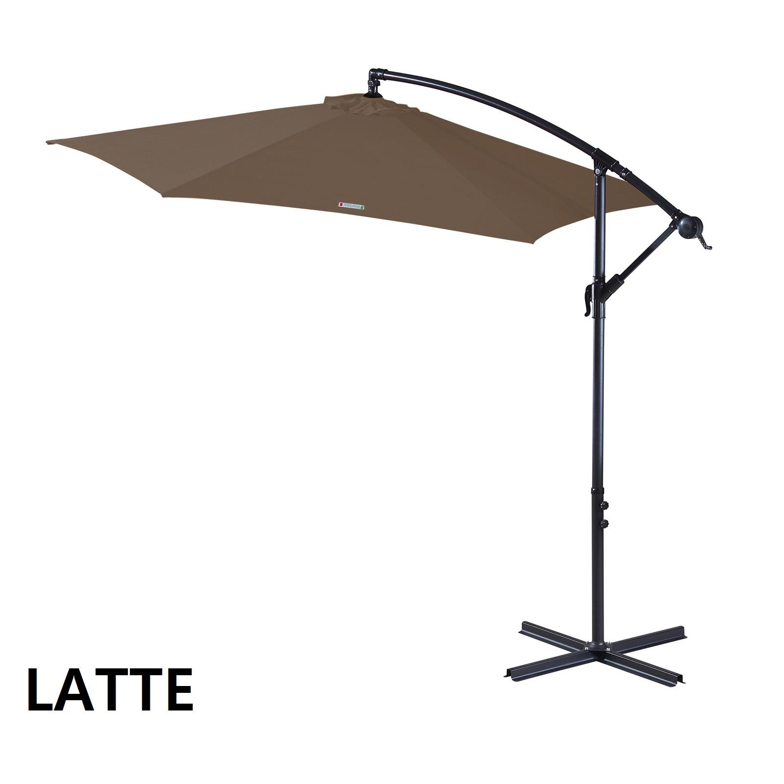 thumbnail 50 - Milano Outdoor 3 Metre Cantilever Umbrella UV Sunshade Garden Patio Deck