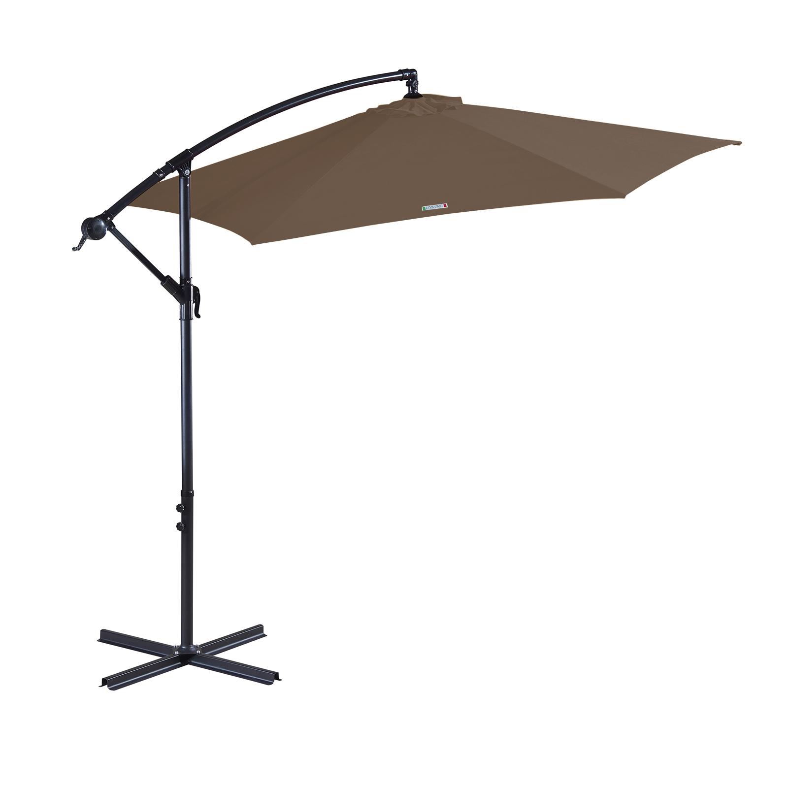 thumbnail 55 - Milano Outdoor 3 Metre Cantilever Umbrella UV Sunshade Garden Patio Deck