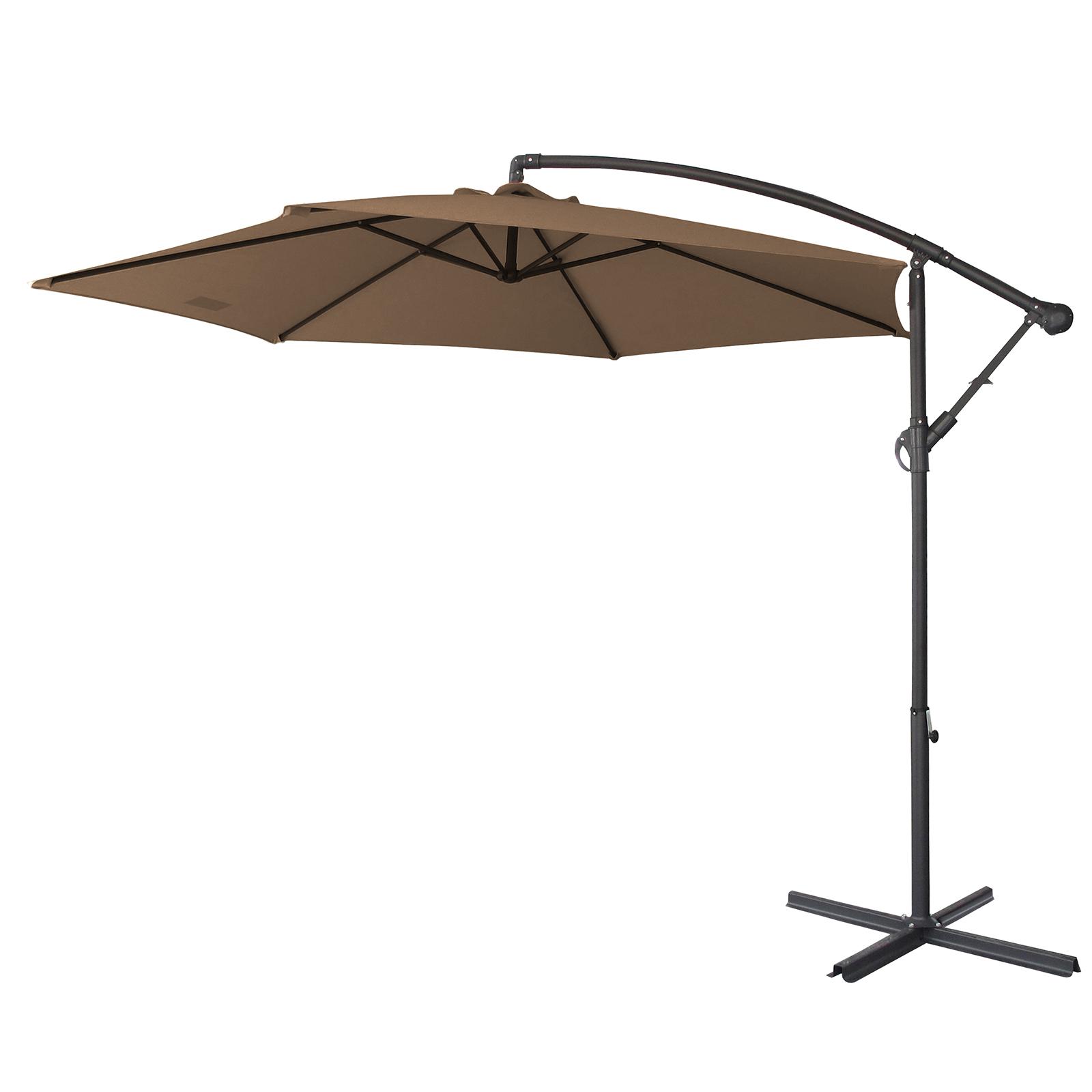 thumbnail 56 - Milano Outdoor 3 Metre Cantilever Umbrella UV Sunshade Garden Patio Deck