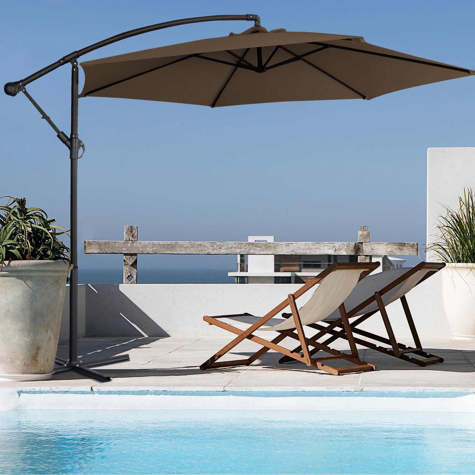thumbnail 58 - Milano Outdoor 3 Metre Cantilever Umbrella UV Sunshade Garden Patio Deck