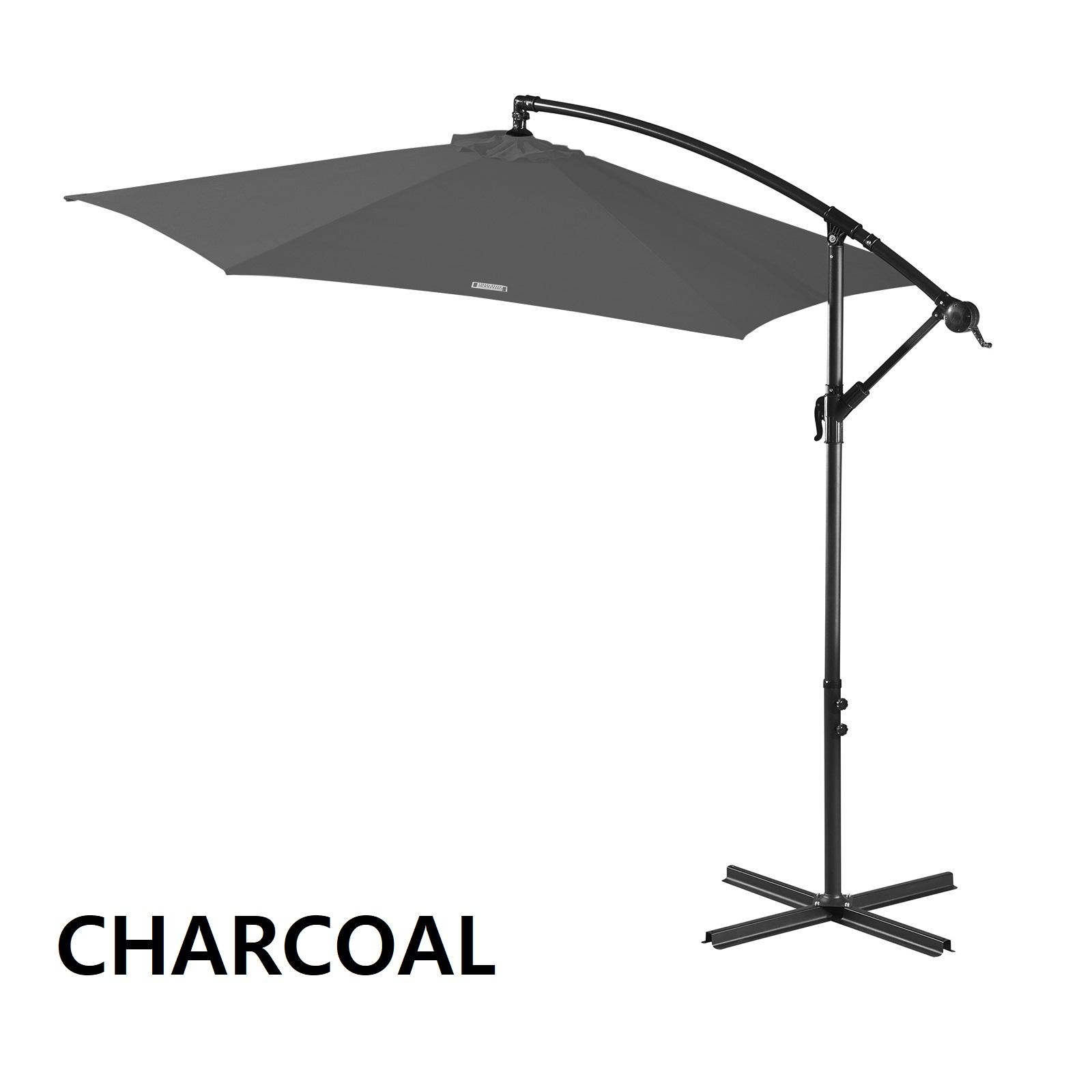 thumbnail 20 - Milano Outdoor 3 Metre Cantilever Umbrella UV Sunshade Garden Patio Deck