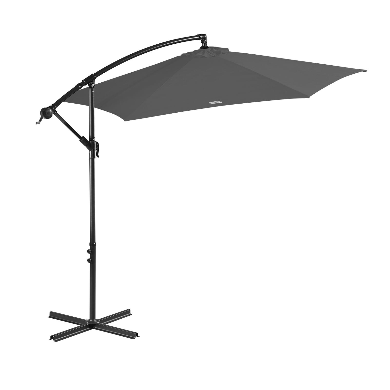 thumbnail 25 - Milano Outdoor 3 Metre Cantilever Umbrella UV Sunshade Garden Patio Deck