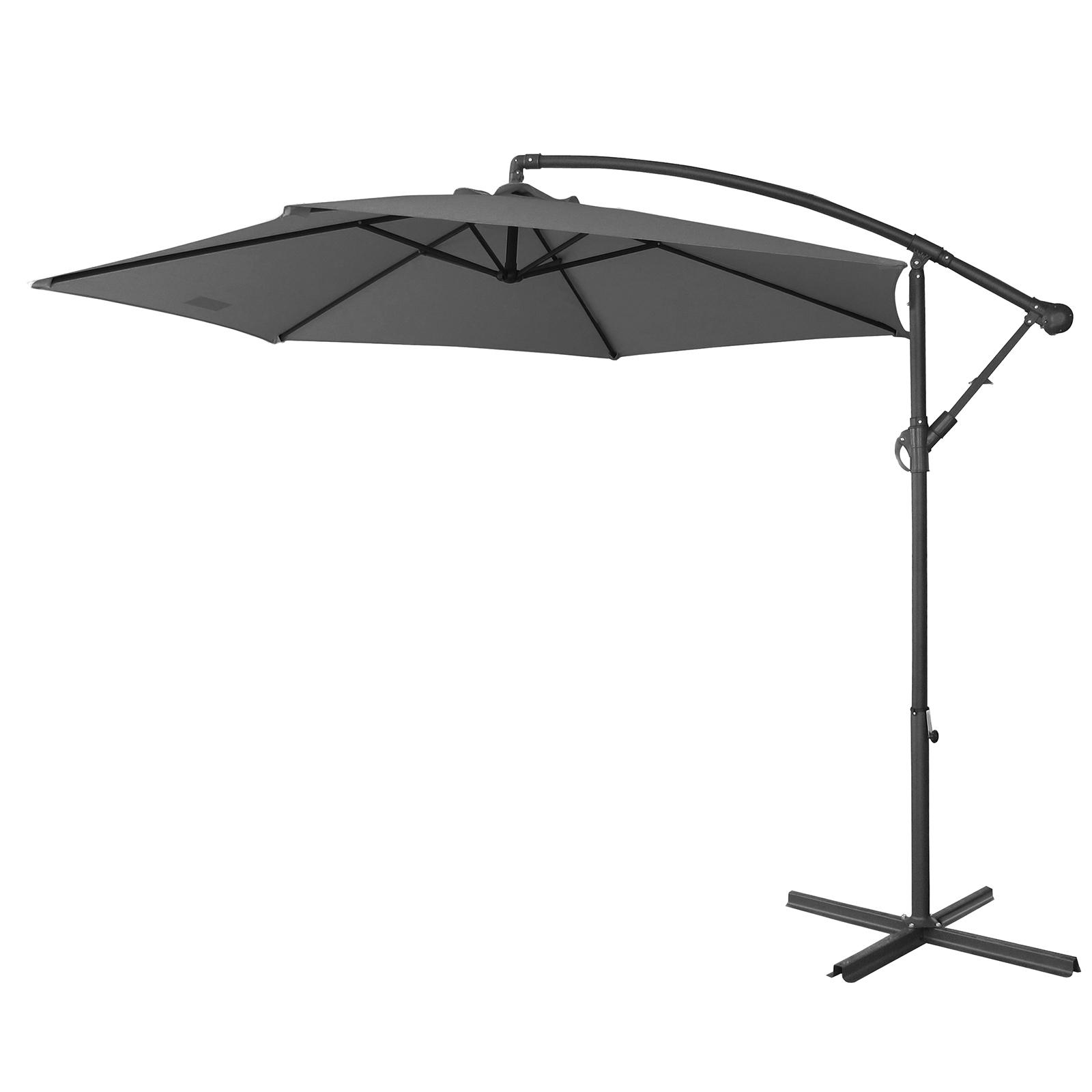 thumbnail 26 - Milano Outdoor 3 Metre Cantilever Umbrella UV Sunshade Garden Patio Deck