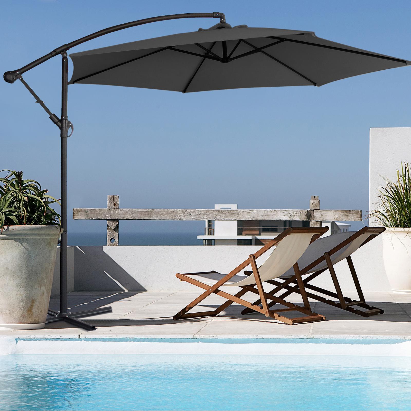 thumbnail 28 - Milano Outdoor 3 Metre Cantilever Umbrella UV Sunshade Garden Patio Deck
