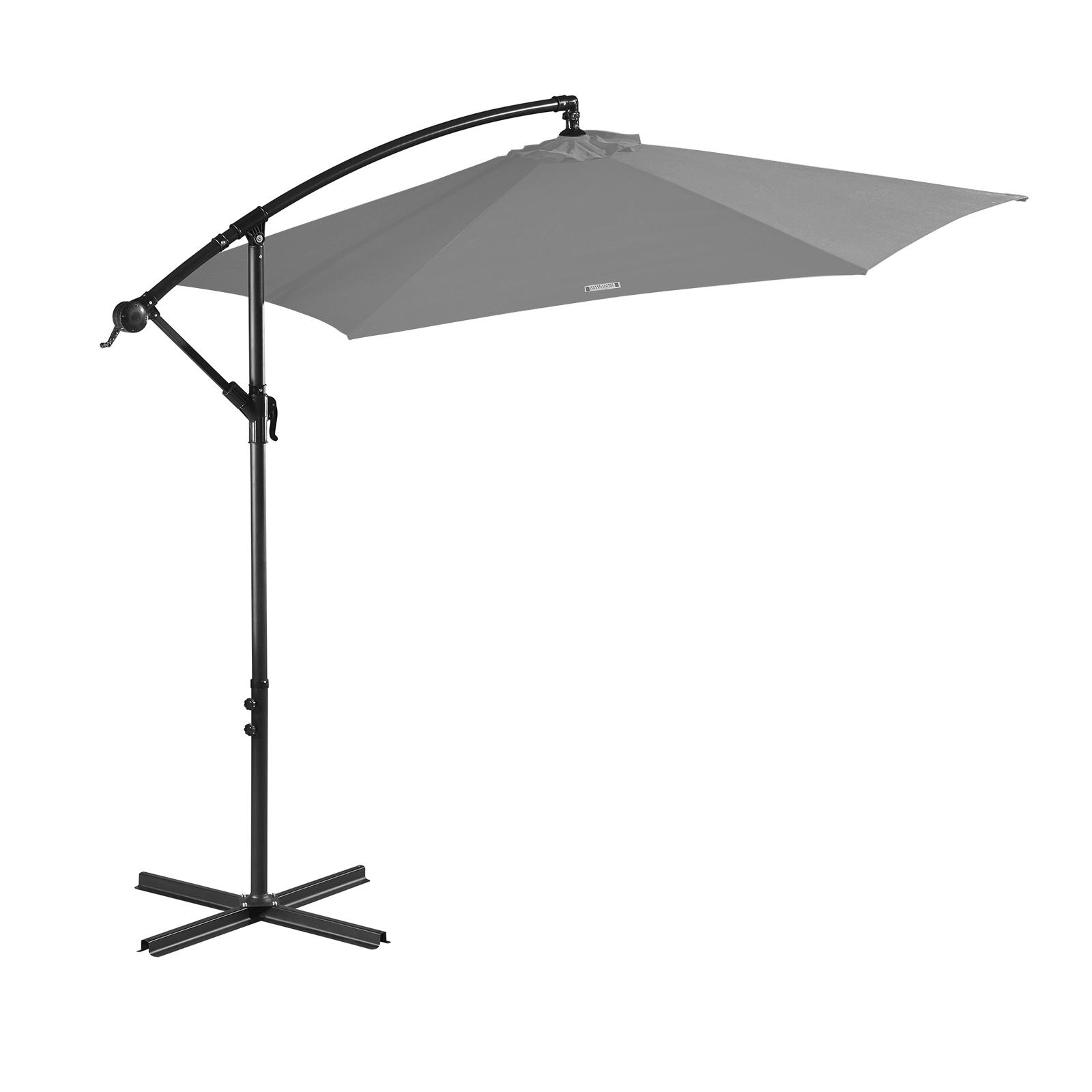 thumbnail 45 - Milano Outdoor 3 Metre Cantilever Umbrella UV Sunshade Garden Patio Deck
