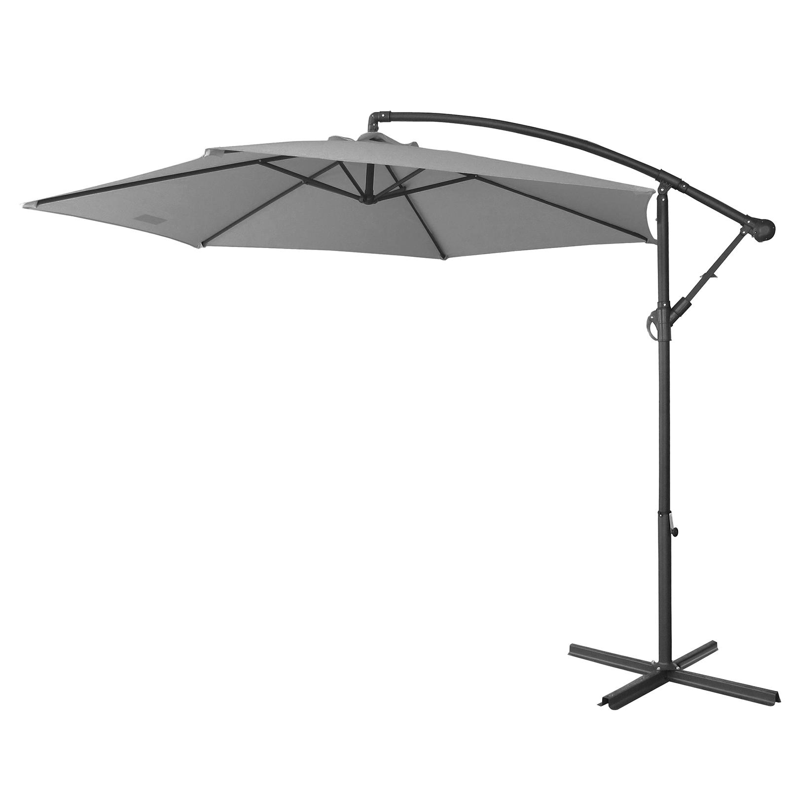 thumbnail 46 - Milano Outdoor 3 Metre Cantilever Umbrella UV Sunshade Garden Patio Deck