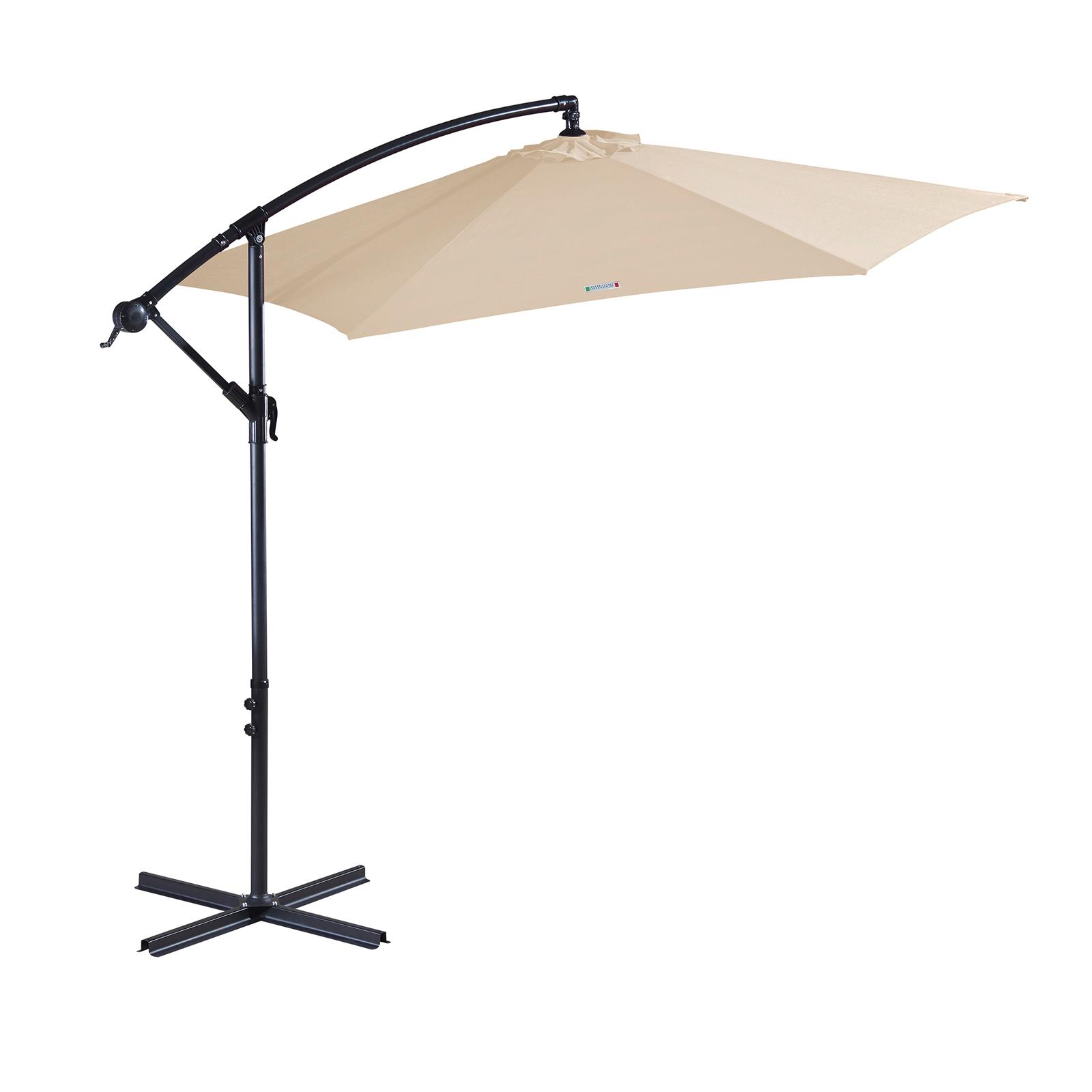 thumbnail 16 - Milano Outdoor 3 Metre Cantilever Umbrella UV Sunshade Garden Patio Deck
