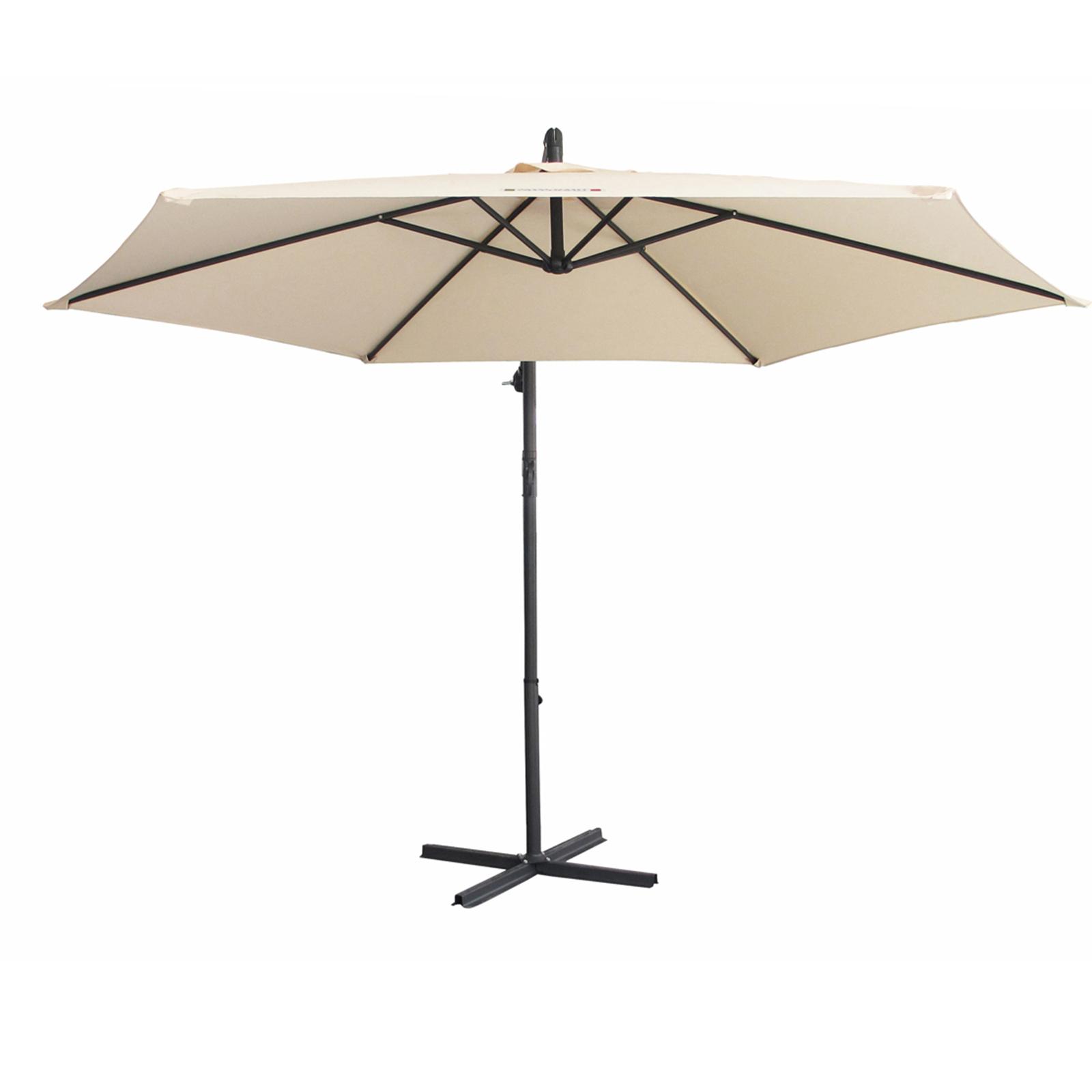 thumbnail 17 - Milano Outdoor 3 Metre Cantilever Umbrella UV Sunshade Garden Patio Deck