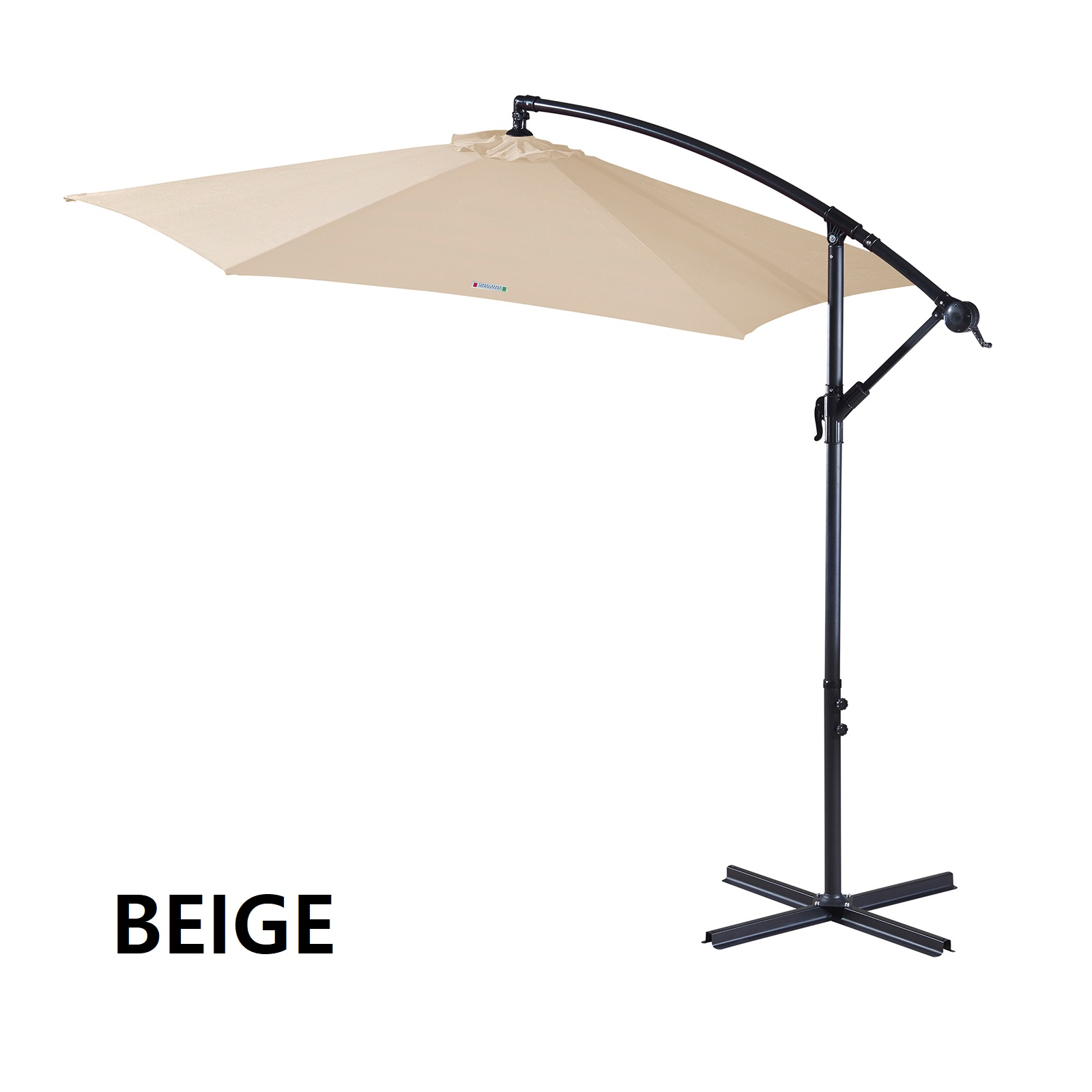 thumbnail 12 - Milano Outdoor 3 Metre Cantilever Umbrella UV Sunshade Garden Patio Deck