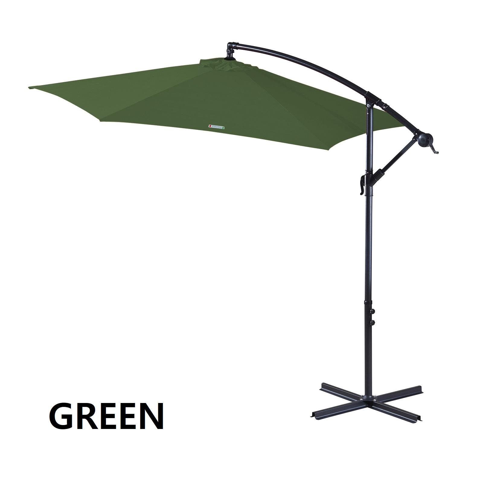 thumbnail 30 - Milano Outdoor 3 Metre Cantilever Umbrella UV Sunshade Garden Patio Deck