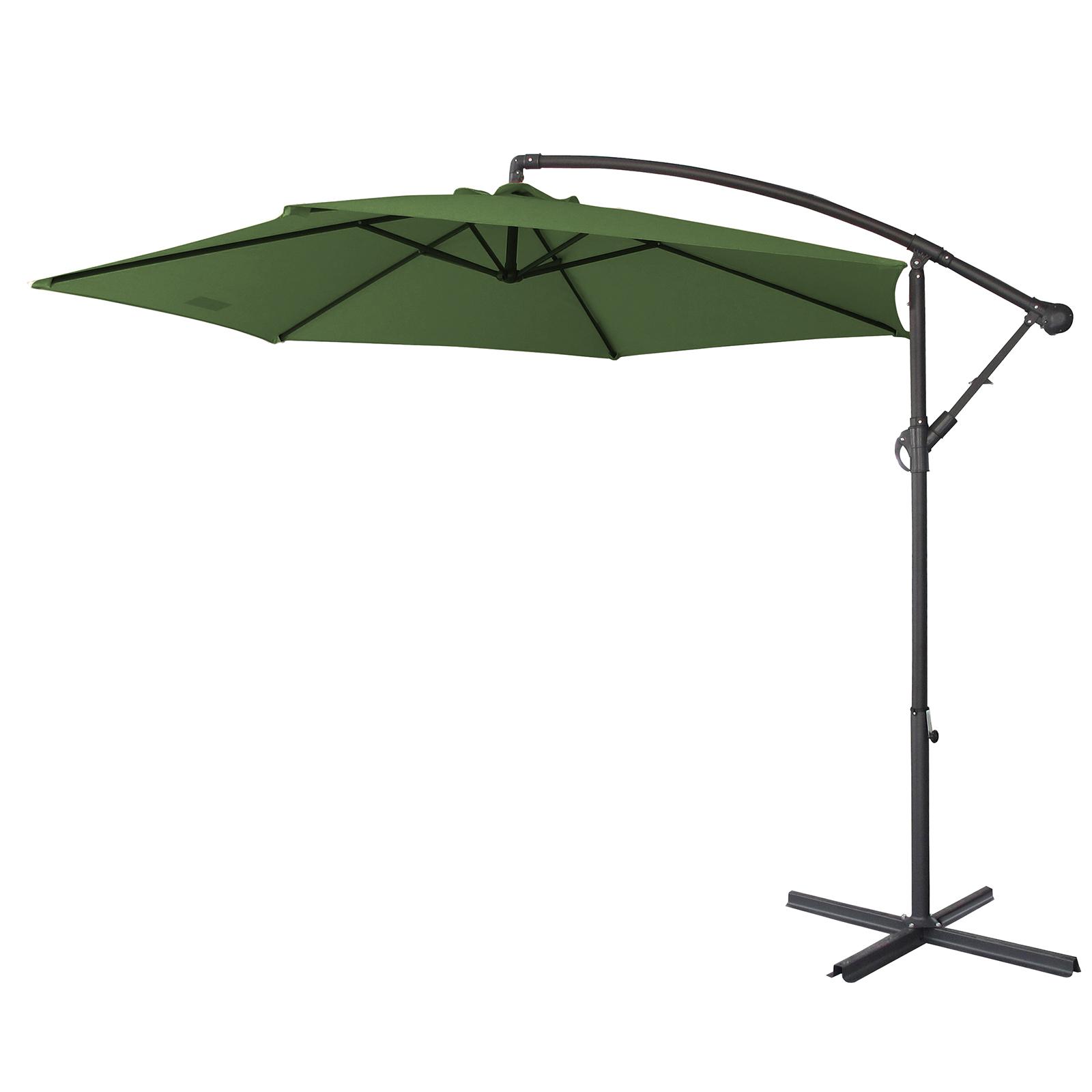 thumbnail 35 - Milano Outdoor 3 Metre Cantilever Umbrella UV Sunshade Garden Patio Deck