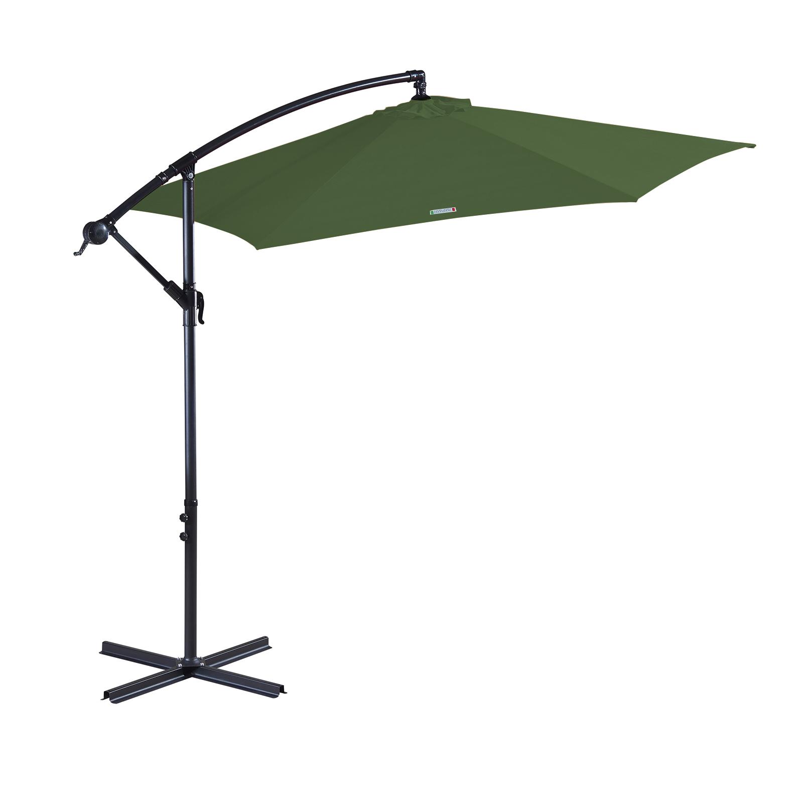 thumbnail 38 - Milano Outdoor 3 Metre Cantilever Umbrella UV Sunshade Garden Patio Deck