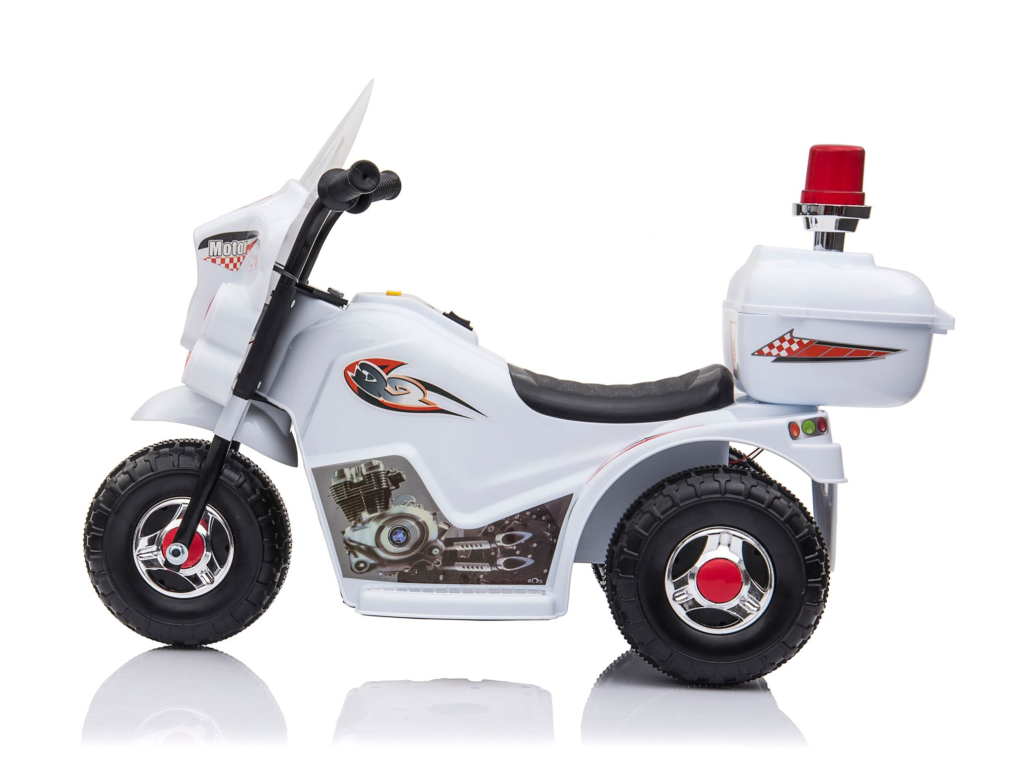 Kids-Ride-On-Motorbike-Motorcycle-Electric-Bike-Toy-Car-Trike-Battery-Red-White