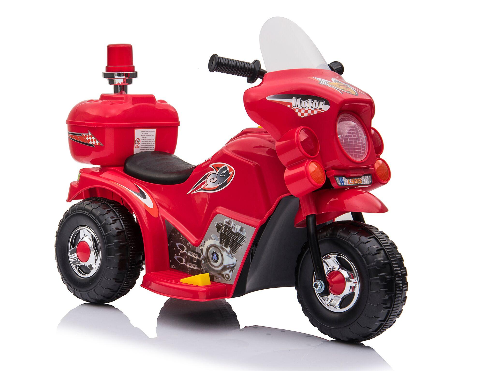 Kids-Ride-On-Motorbike-Motorcycle-Electric-Bike-Toy-Car-Trike-Battery-Red-White