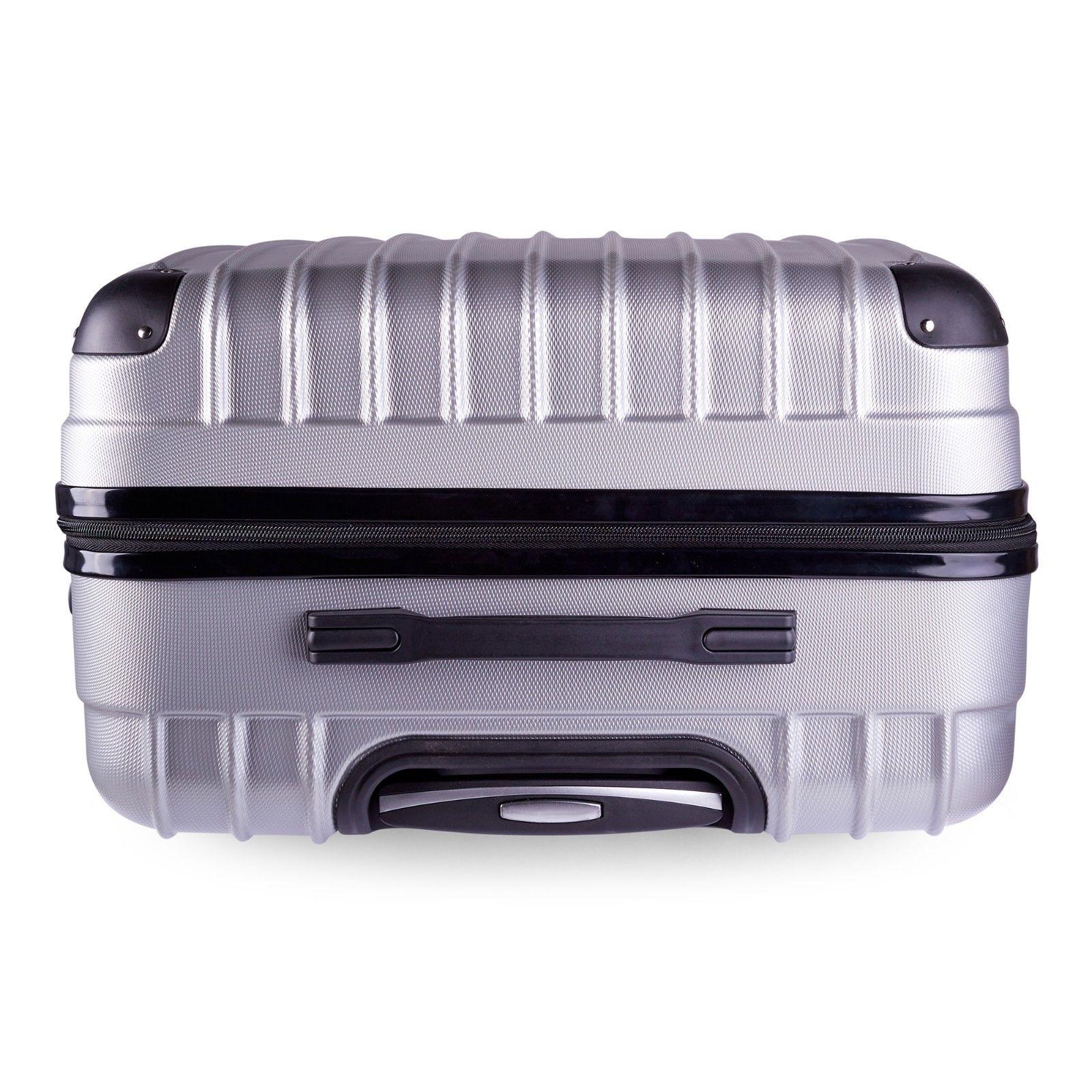 Milano-Premium-3pc-ABS-Luggage-Suitcase-Luxury-Hard-Case-Shockproof-Travel-Set thumbnail 35