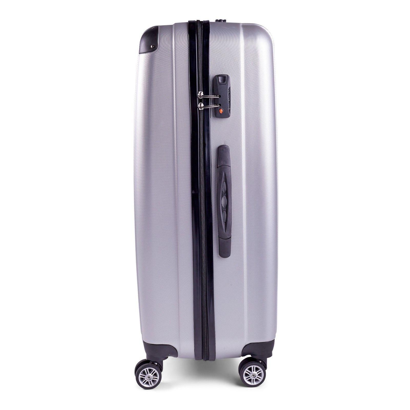 Milano-Premium-3pc-ABS-Luggage-Suitcase-Luxury-Hard-Case-Shockproof-Travel-Set thumbnail 34