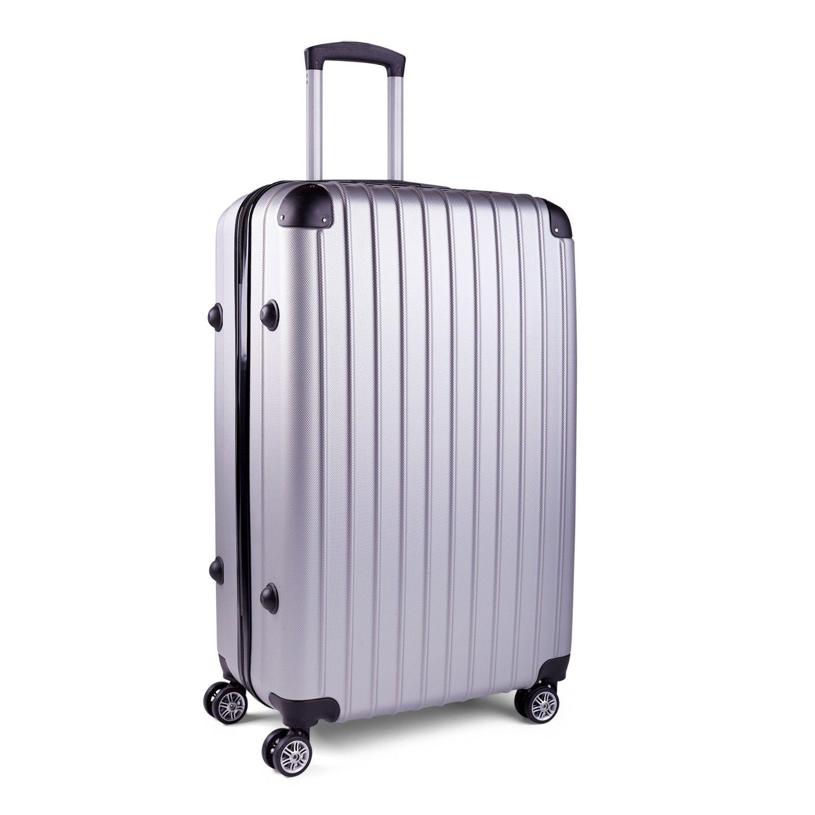 Milano-Premium-3pc-ABS-Luggage-Suitcase-Luxury-Hard-Case-Shockproof-Travel-Set thumbnail 32