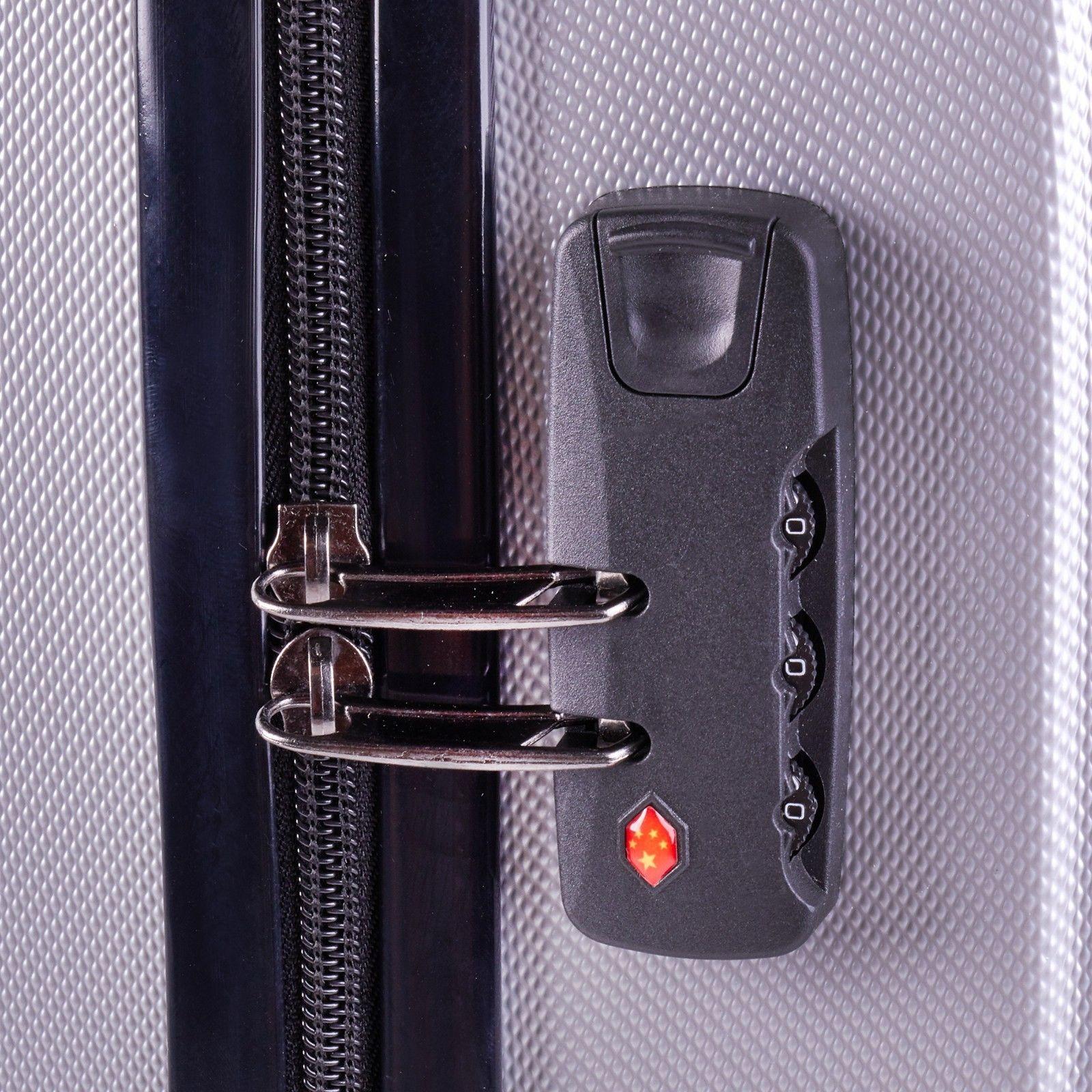 Milano-Premium-3pc-ABS-Luggage-Suitcase-Luxury-Hard-Case-Shockproof-Travel-Set thumbnail 38
