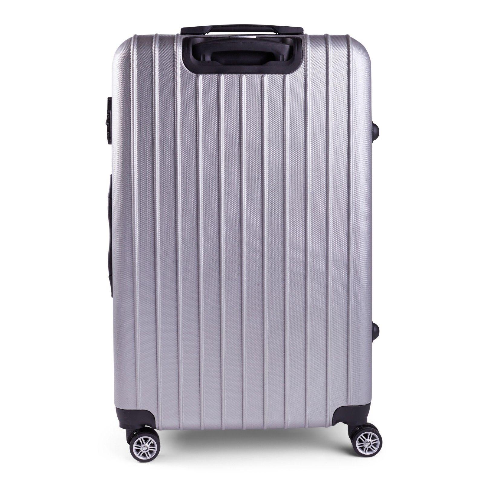 Milano-Premium-3pc-ABS-Luggage-Suitcase-Luxury-Hard-Case-Shockproof-Travel-Set thumbnail 31