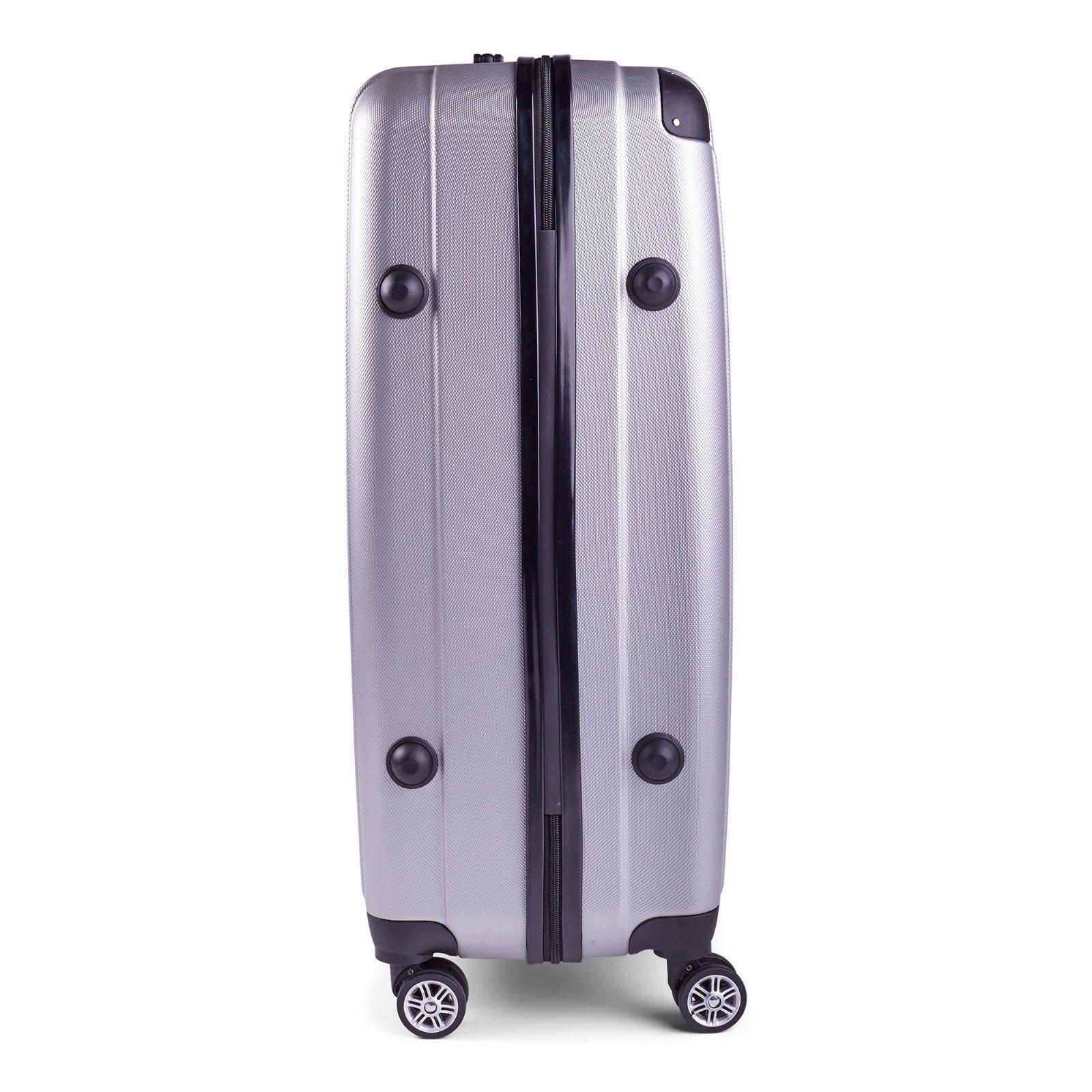 Milano-Premium-3pc-ABS-Luggage-Suitcase-Luxury-Hard-Case-Shockproof-Travel-Set thumbnail 33