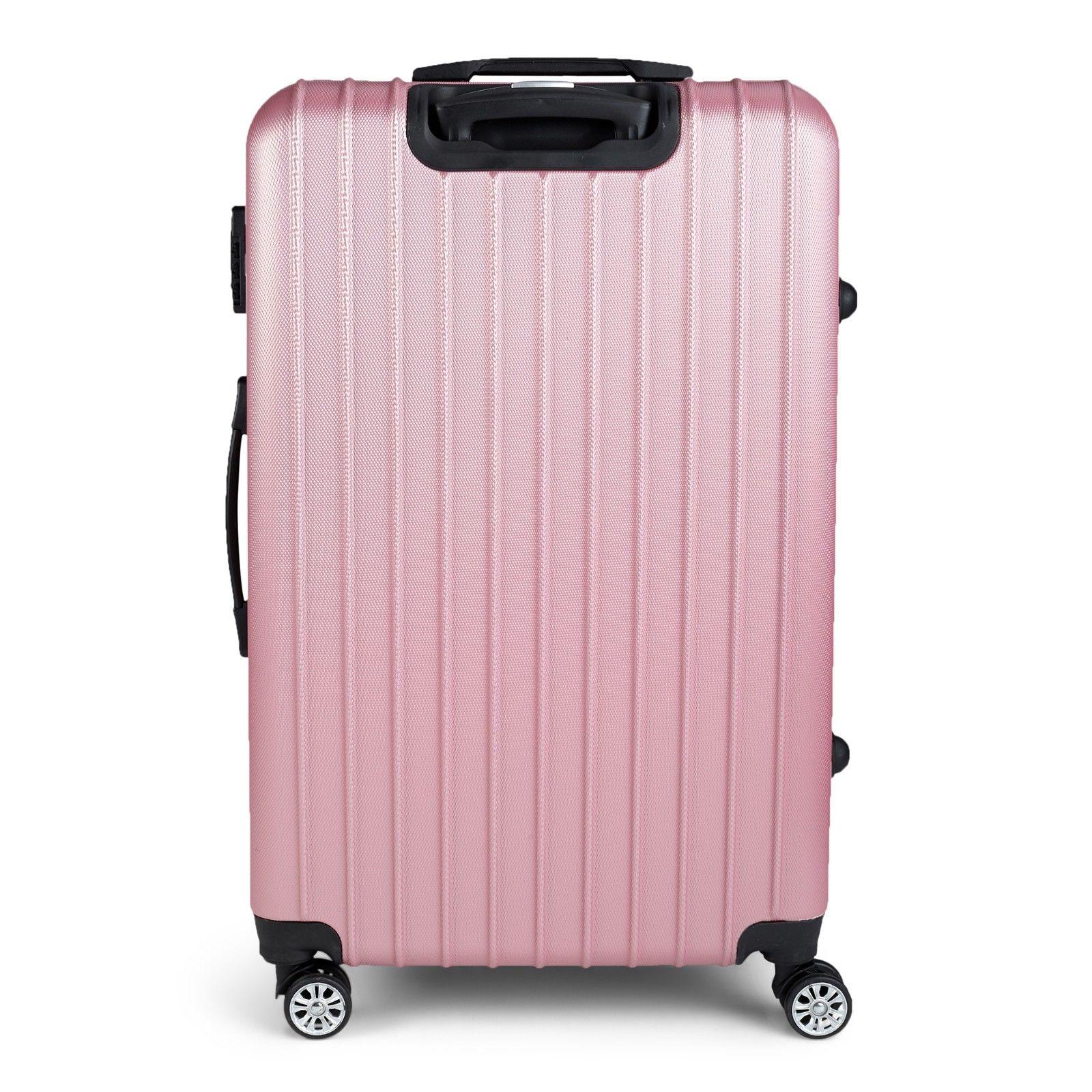 Milano-Premium-3pc-ABS-Luggage-Suitcase-Luxury-Hard-Case-Shockproof-Travel-Set thumbnail 21