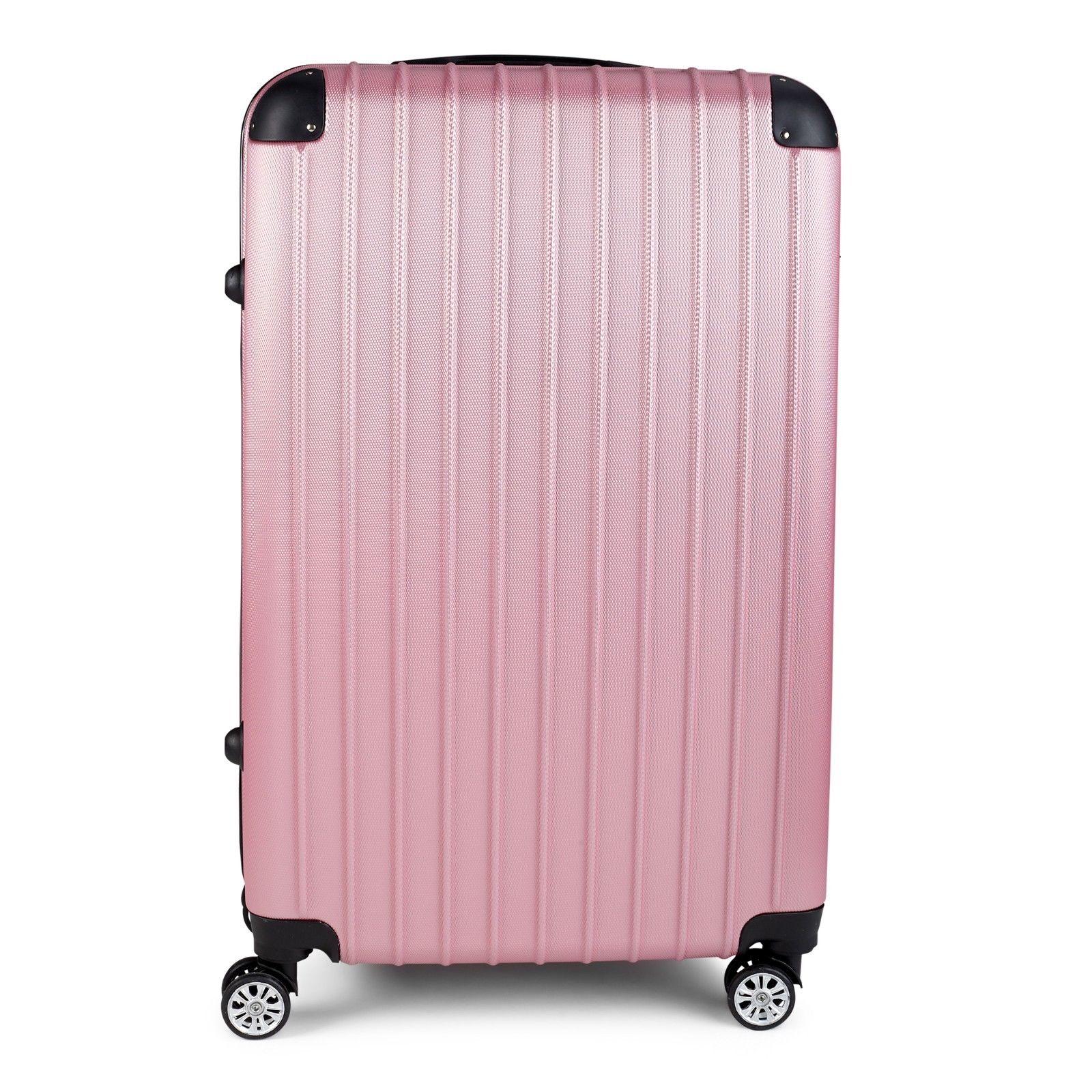 Milano-Premium-3pc-ABS-Luggage-Suitcase-Luxury-Hard-Case-Shockproof-Travel-Set thumbnail 20