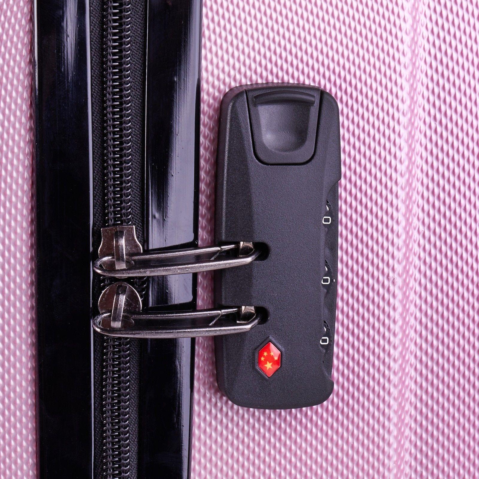 Milano-Premium-3pc-ABS-Luggage-Suitcase-Luxury-Hard-Case-Shockproof-Travel-Set thumbnail 28