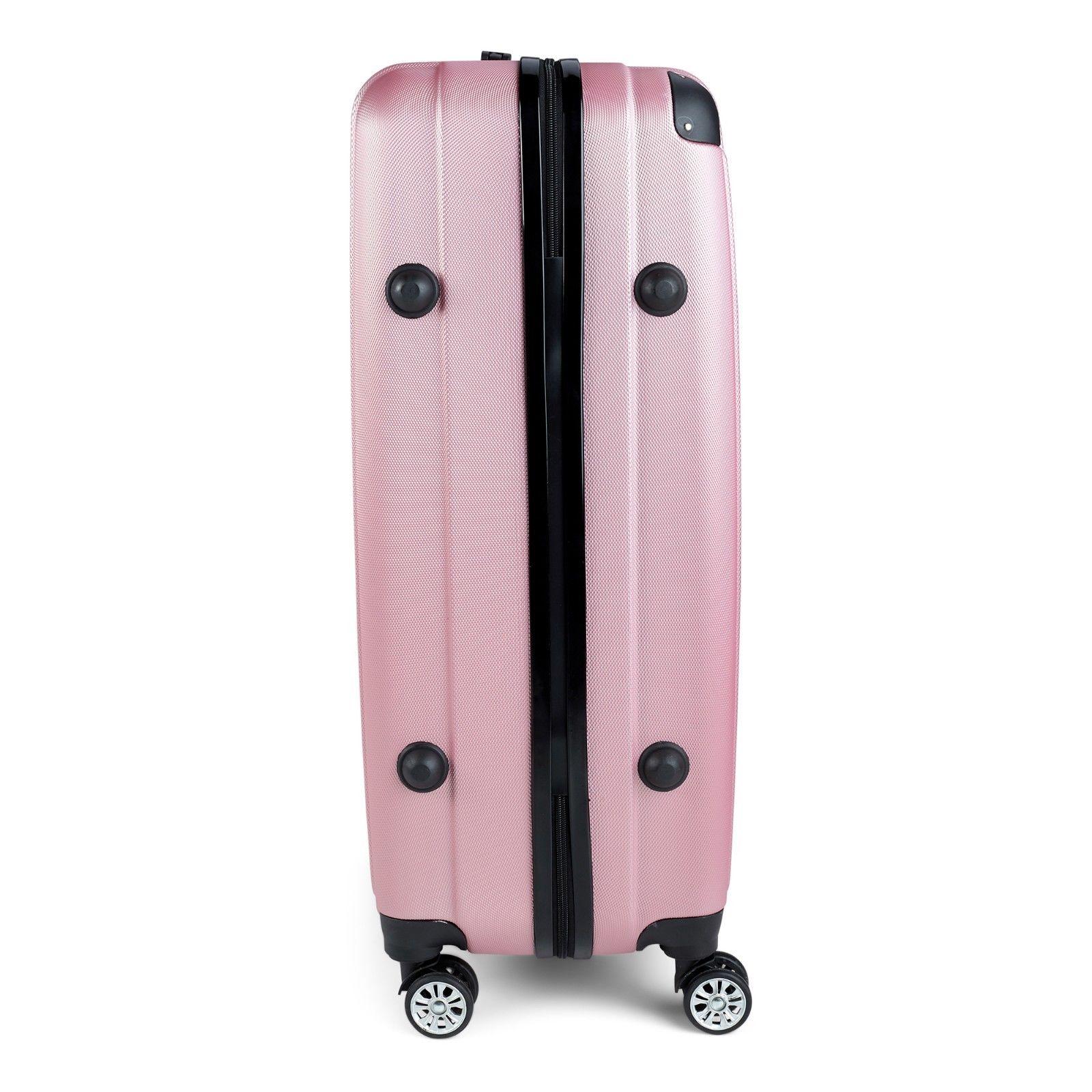 Milano-Premium-3pc-ABS-Luggage-Suitcase-Luxury-Hard-Case-Shockproof-Travel-Set thumbnail 23