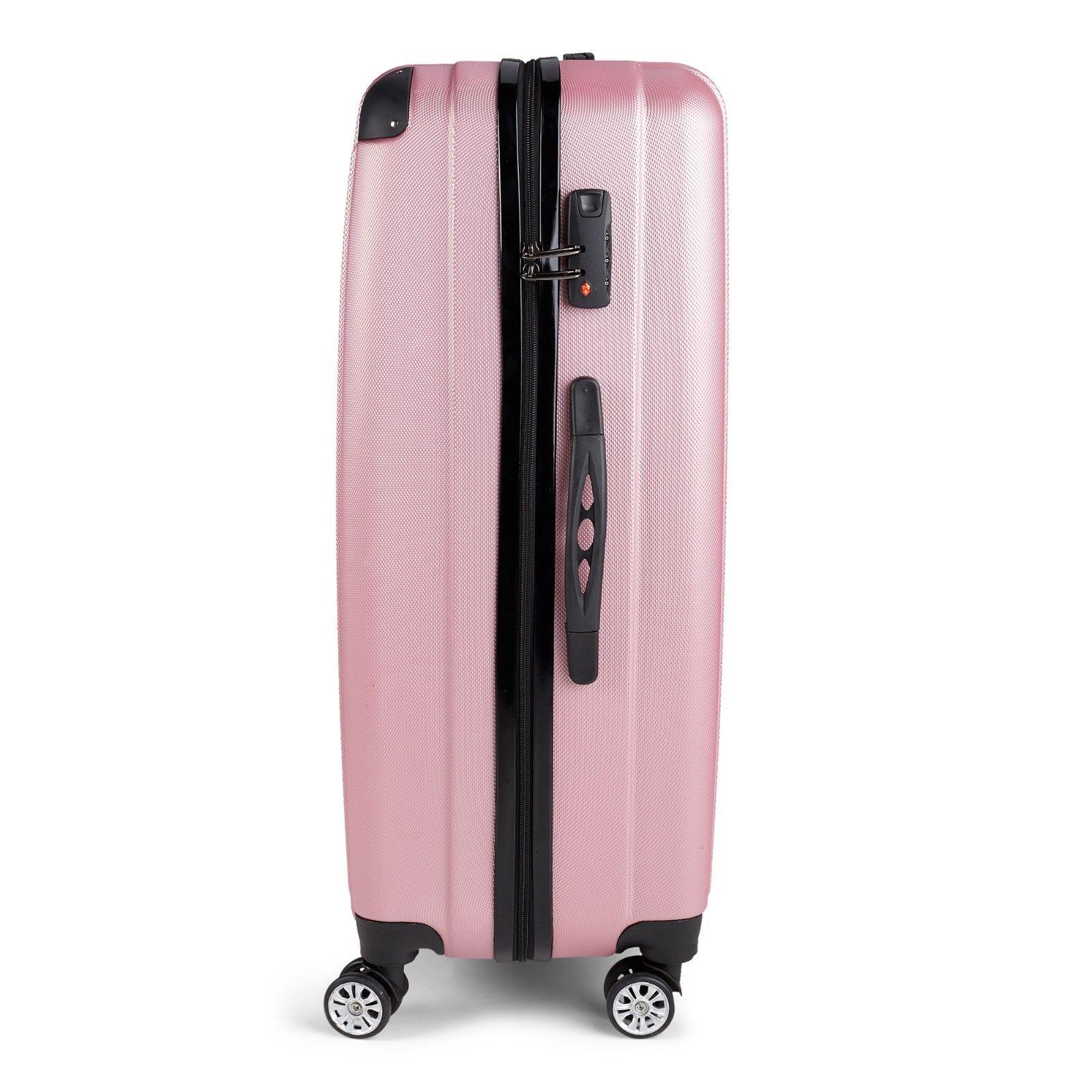 Milano-Premium-3pc-ABS-Luggage-Suitcase-Luxury-Hard-Case-Shockproof-Travel-Set thumbnail 22