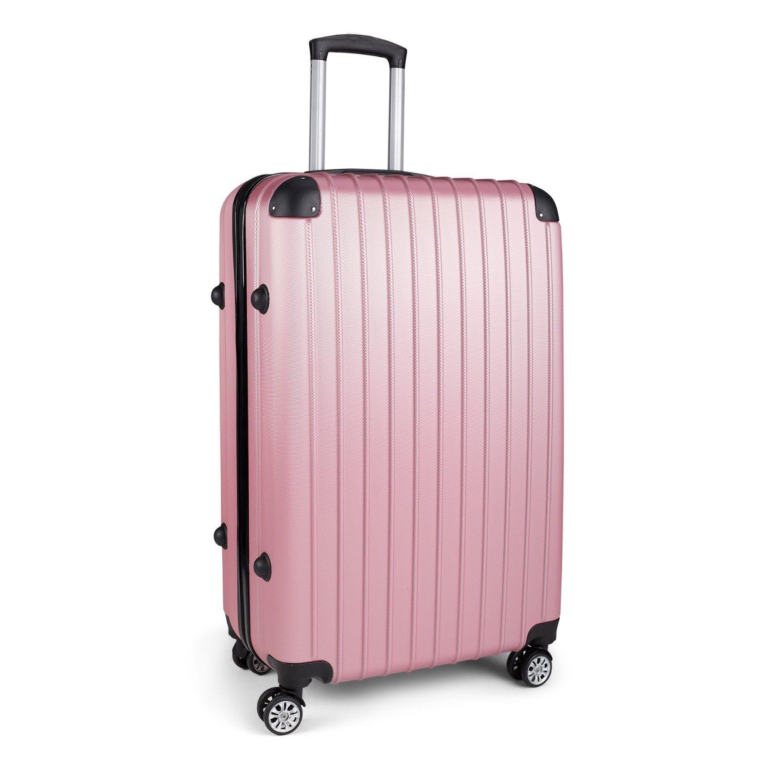Milano-Premium-3pc-ABS-Luggage-Suitcase-Luxury-Hard-Case-Shockproof-Travel-Set thumbnail 24